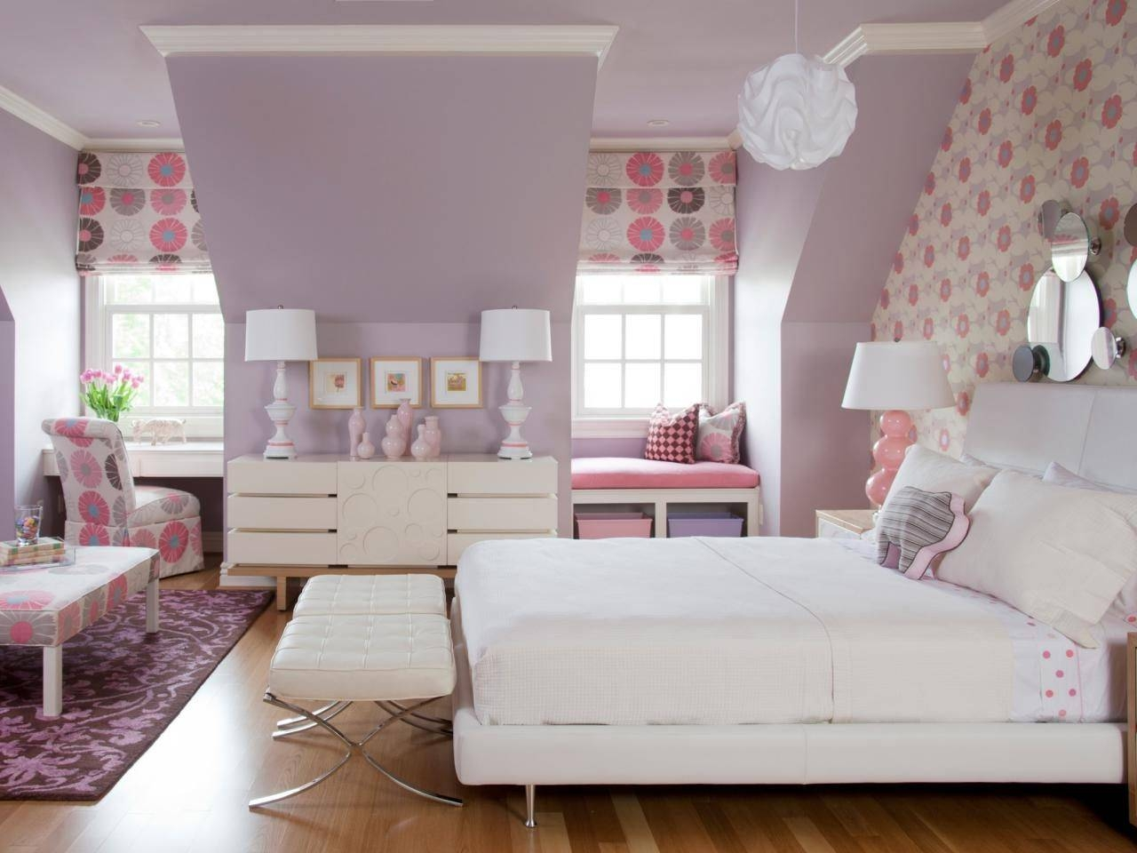 Paint Ideas For Teenage Girl Bedroom White Blue Colors Bed Frames Inside Solid Wood Built In Wardrobes (View 23 of 30)