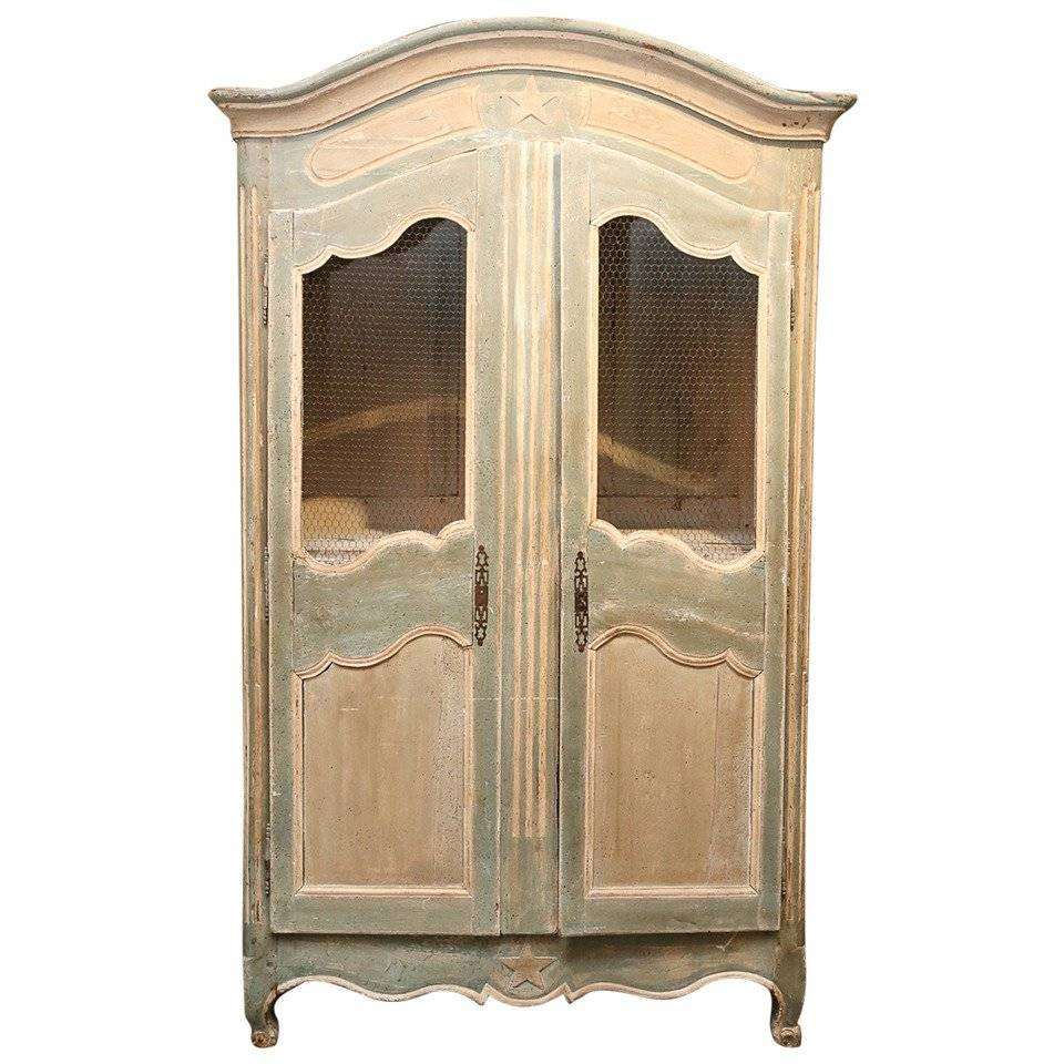 Painted French Armoire For Sale At 1Stdibs with Antique French Wardrobes (Image 13 of 15)