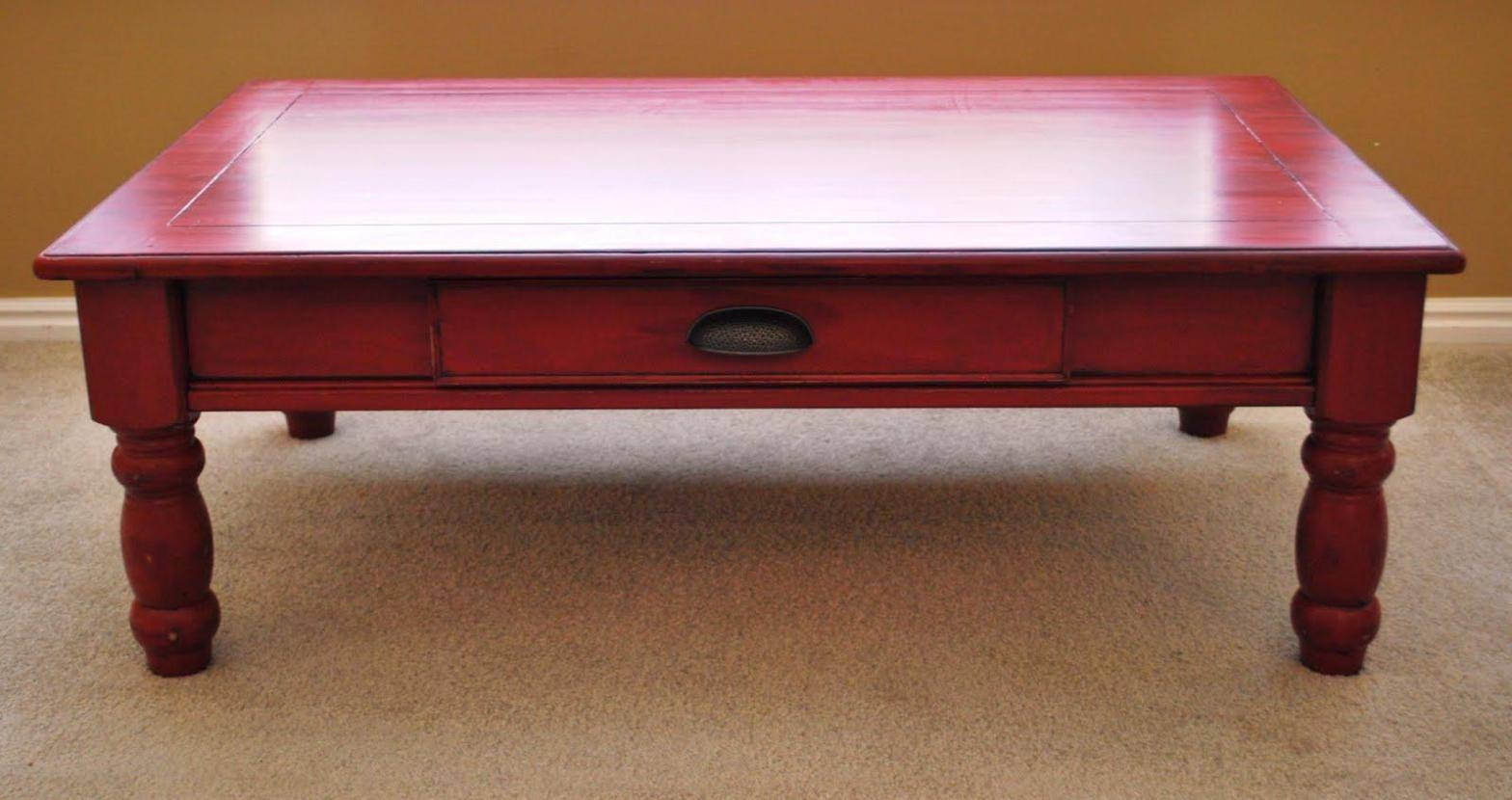 Painted Round Coffee Tables : Bed & Shower - Diy Painted Coffee with Round Red Coffee Tables (Image 21 of 30)