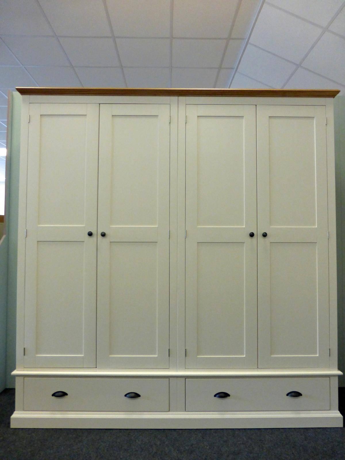 Painted Tall Quad Wardrobe - Painted - Wardrobes - Pine Shop Bury regarding Painted Wardrobes (Image 9 of 15)