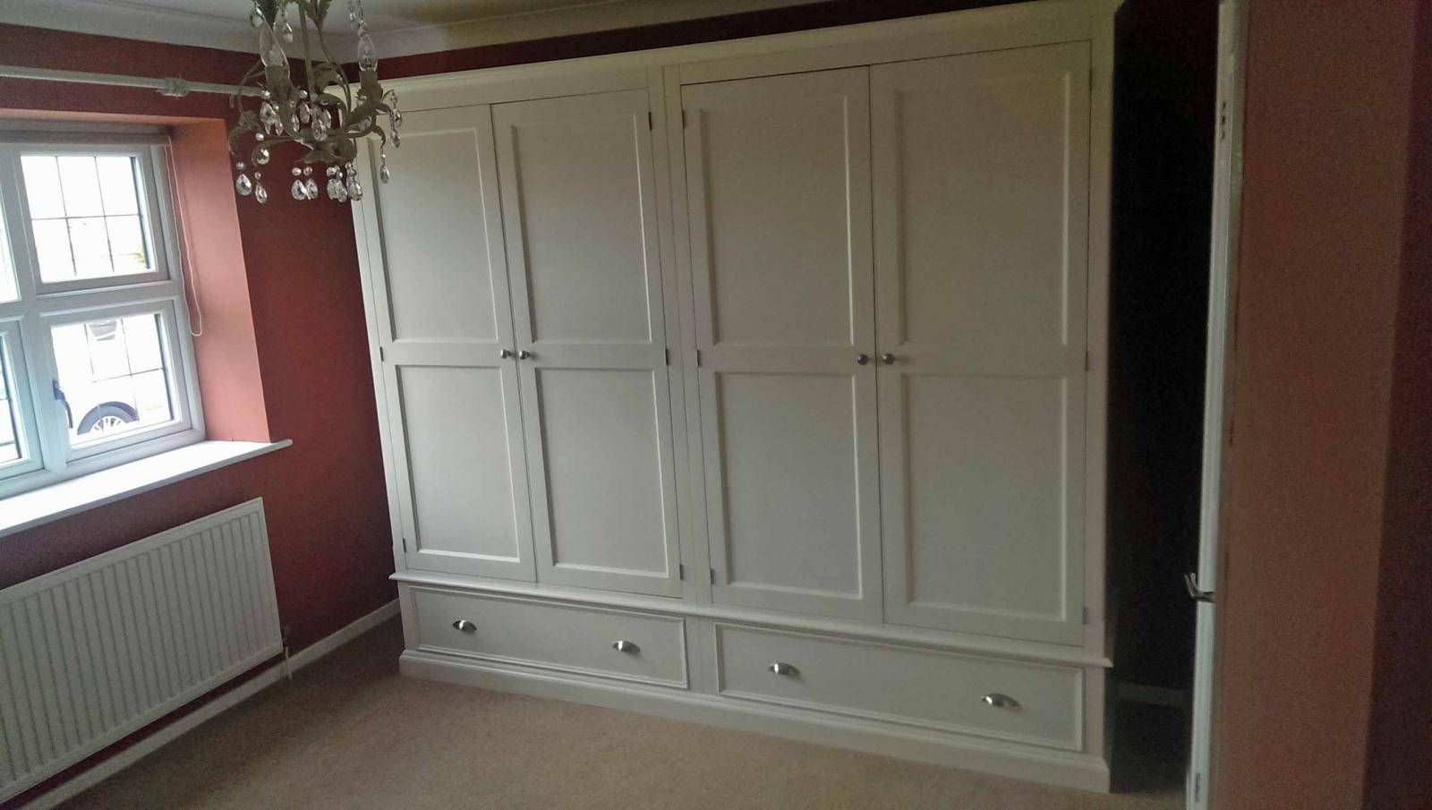 Painted Wide Quad Wardrobe - Wardrobes - Buy Pine, Oak, Painted with regard to Painted Wardrobes (Image 10 of 15)
