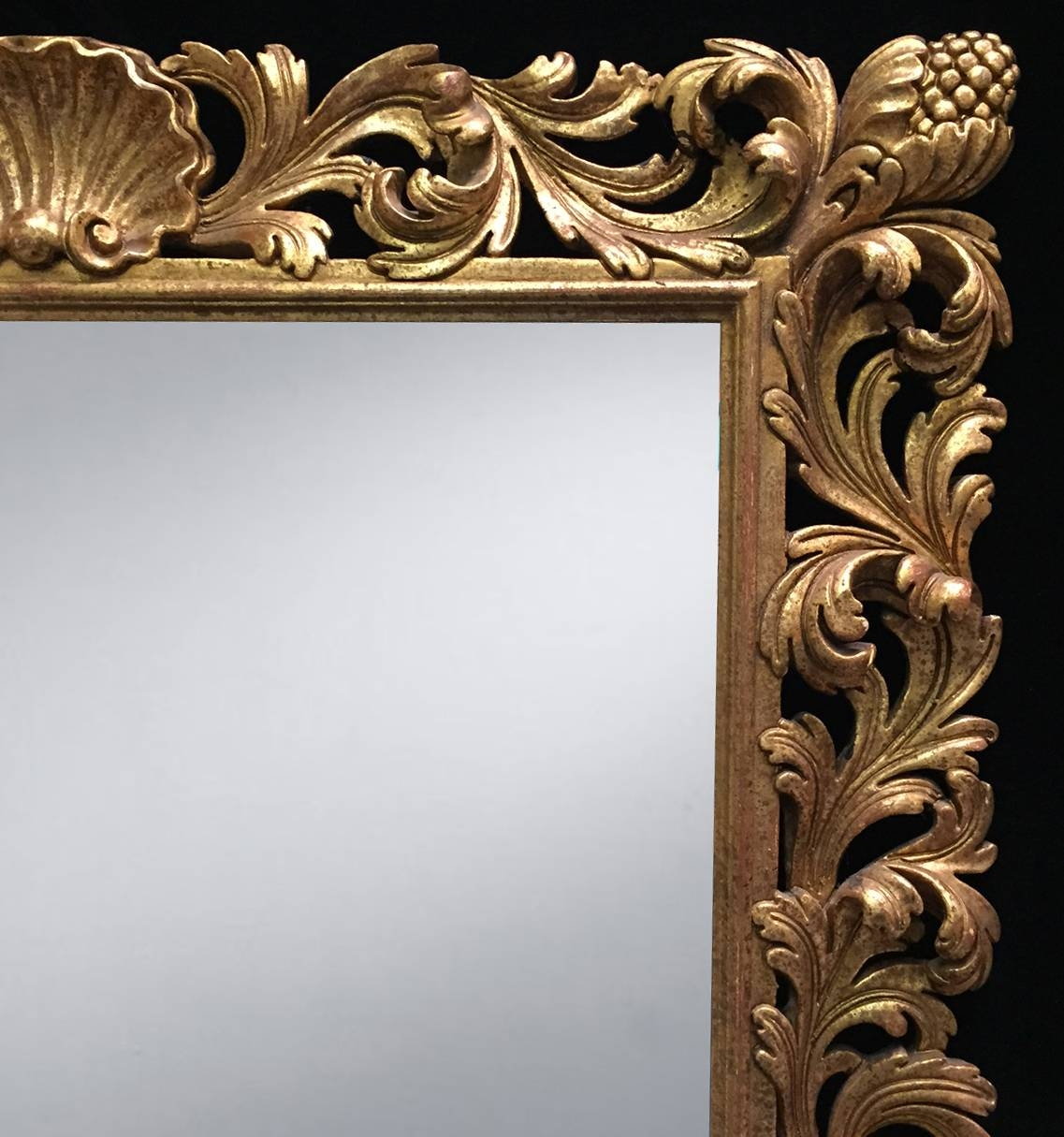 Pair 19C/ Early 20Th Century Italian Roman Baroque Style Carved Regarding Baroque Style Mirrors (View 19 of 25)