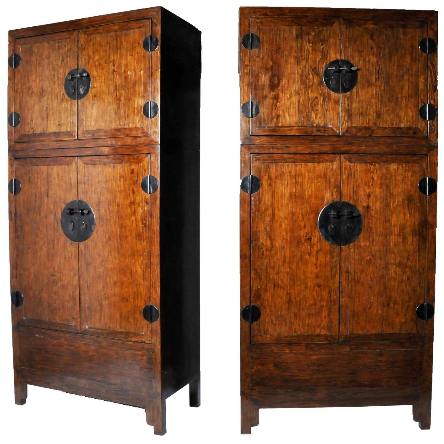 Pair Of Chinese Compound Wardrobes For Sale At 1Stdibs inside Chinese Wardrobes (Image 9 of 15)