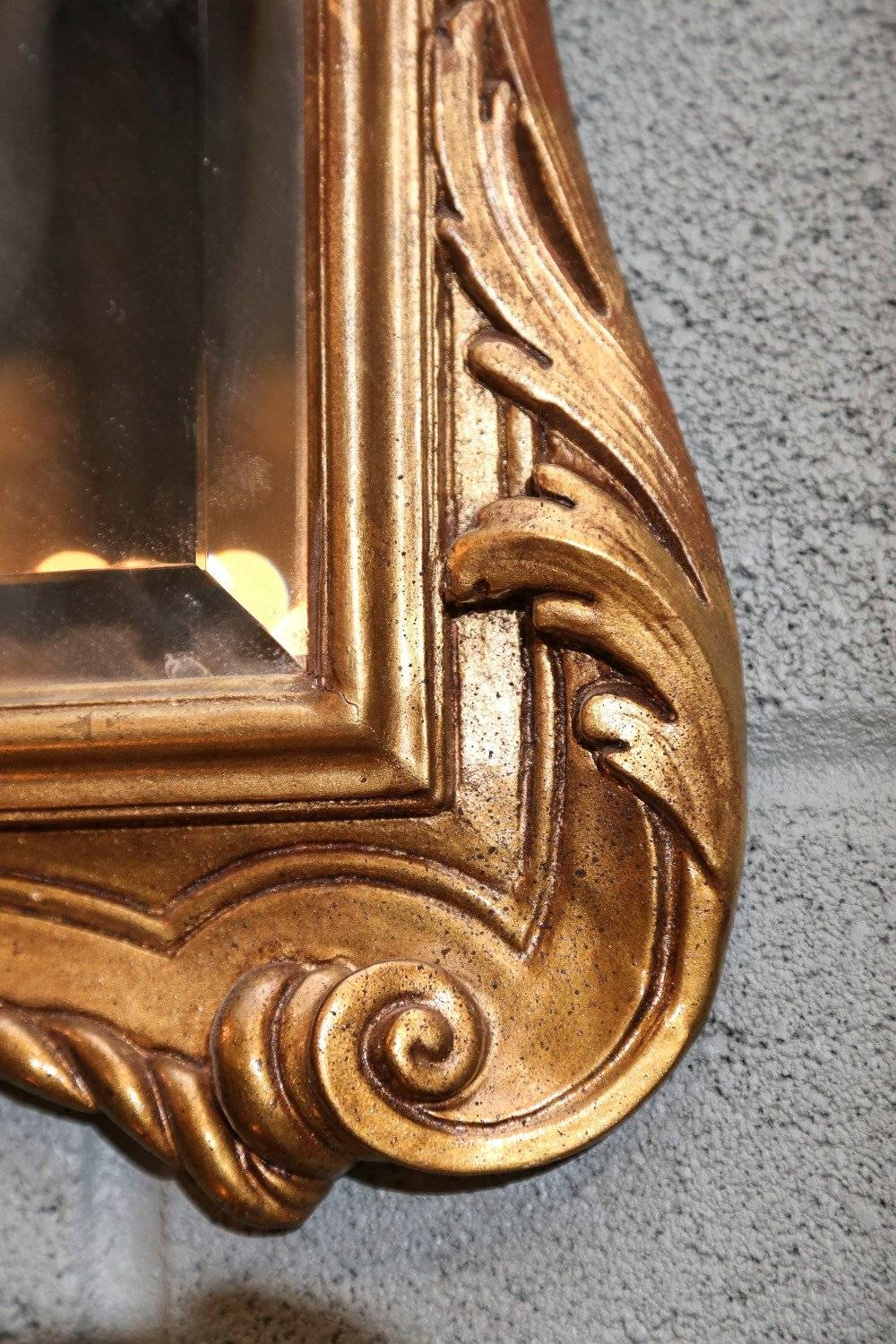 Pair Of English Gilt Mirrors With Low Key Carving On The Frame For with Gilt Mirrors (Image 23 of 25)