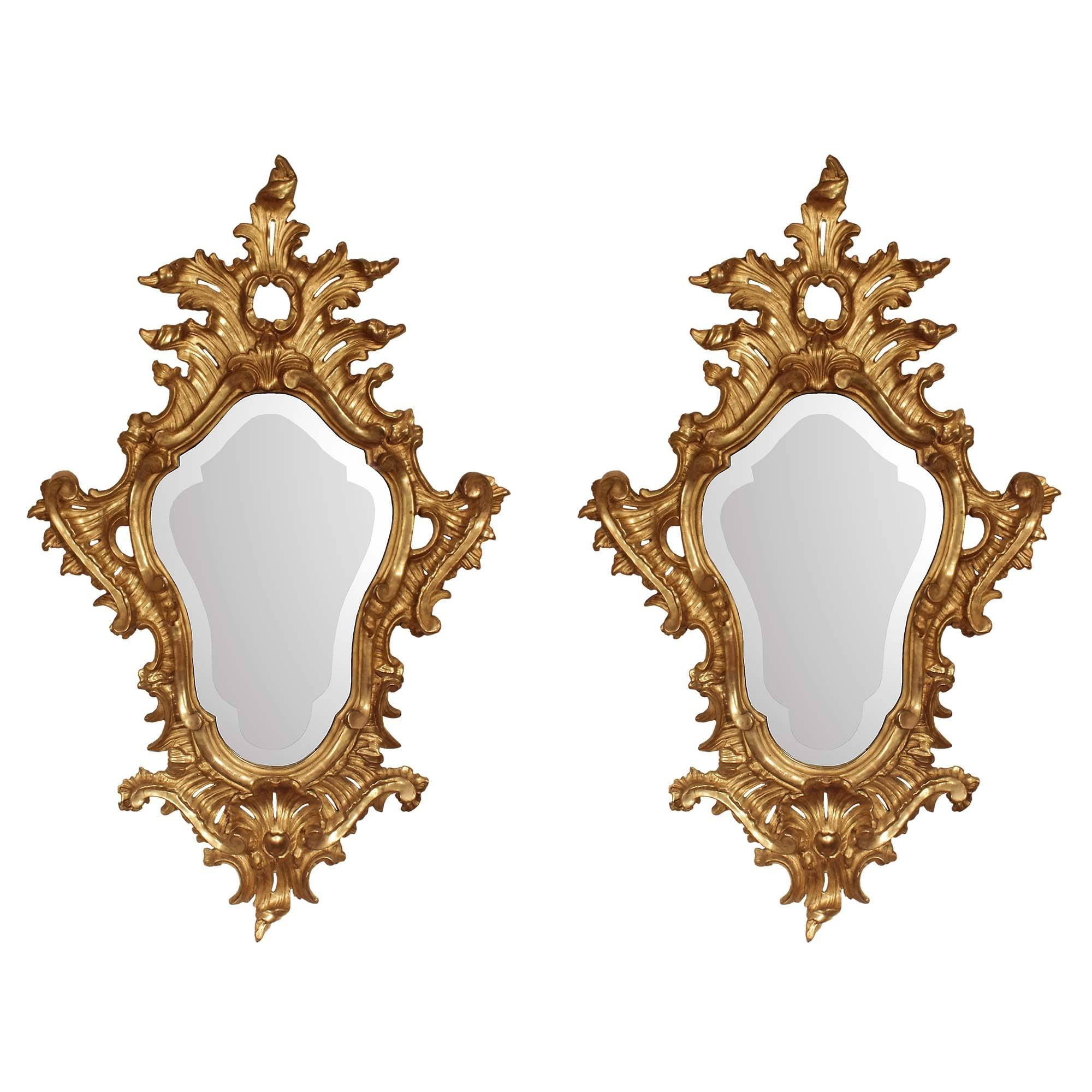 Pair Of Italian 18Th Century Baroque Mirrors with Baroque Mirrors (Image 24 of 25)