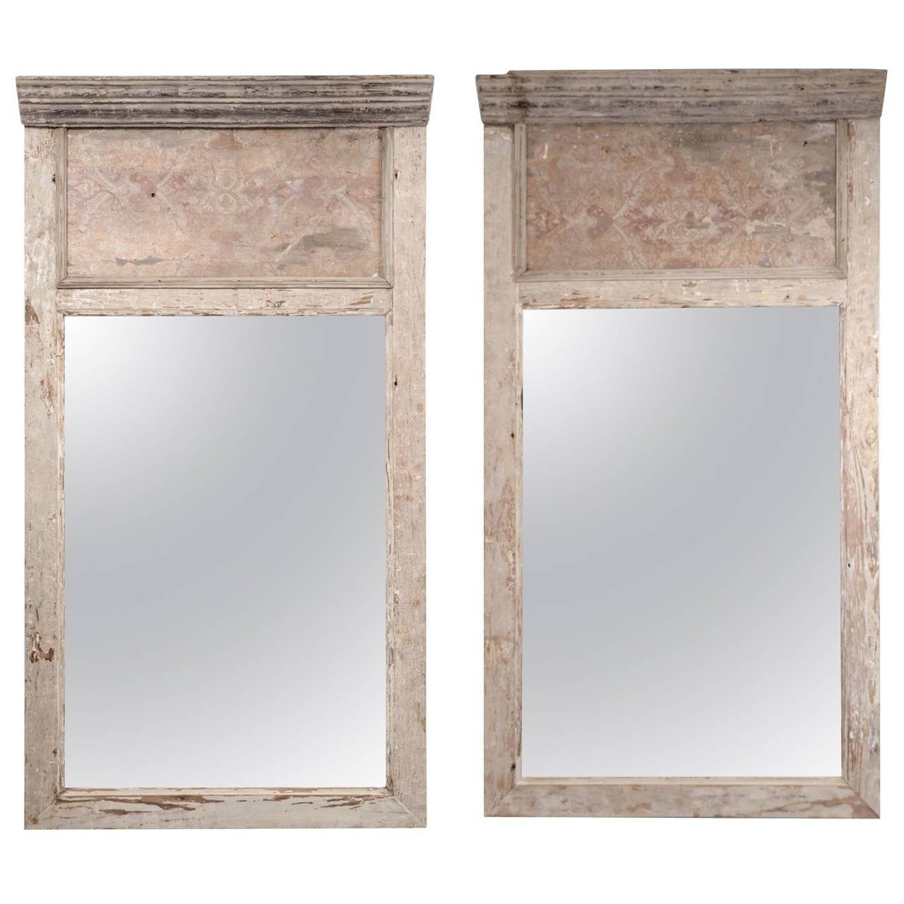 Pair Of Large 17Th Century Architectural Paneled Frames As Trumeau pertaining to Antique Looking Mirrors (Image 22 of 25)