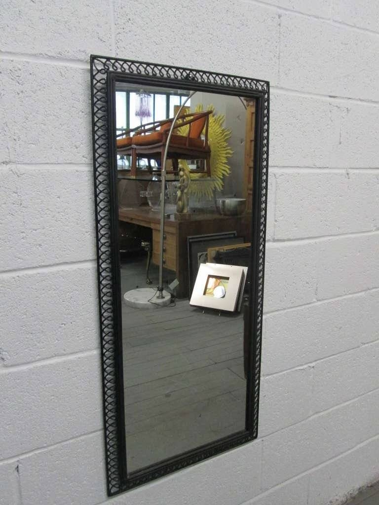 Pair Of Wrought Iron Italian Decorative Framed Mirrors For Sale At throughout Iron Framed Mirrors (Image 21 of 25)