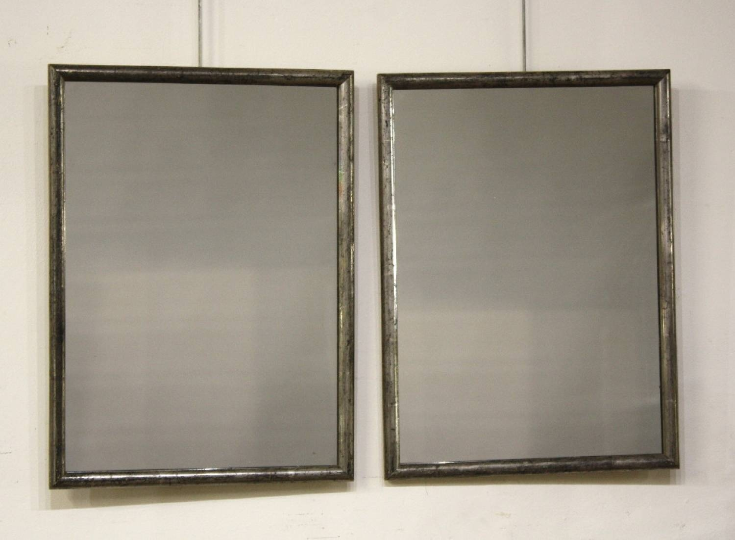 Pair Small Silver Framed Mirrors intended for Small Antique Mirrors (Image 19 of 25)