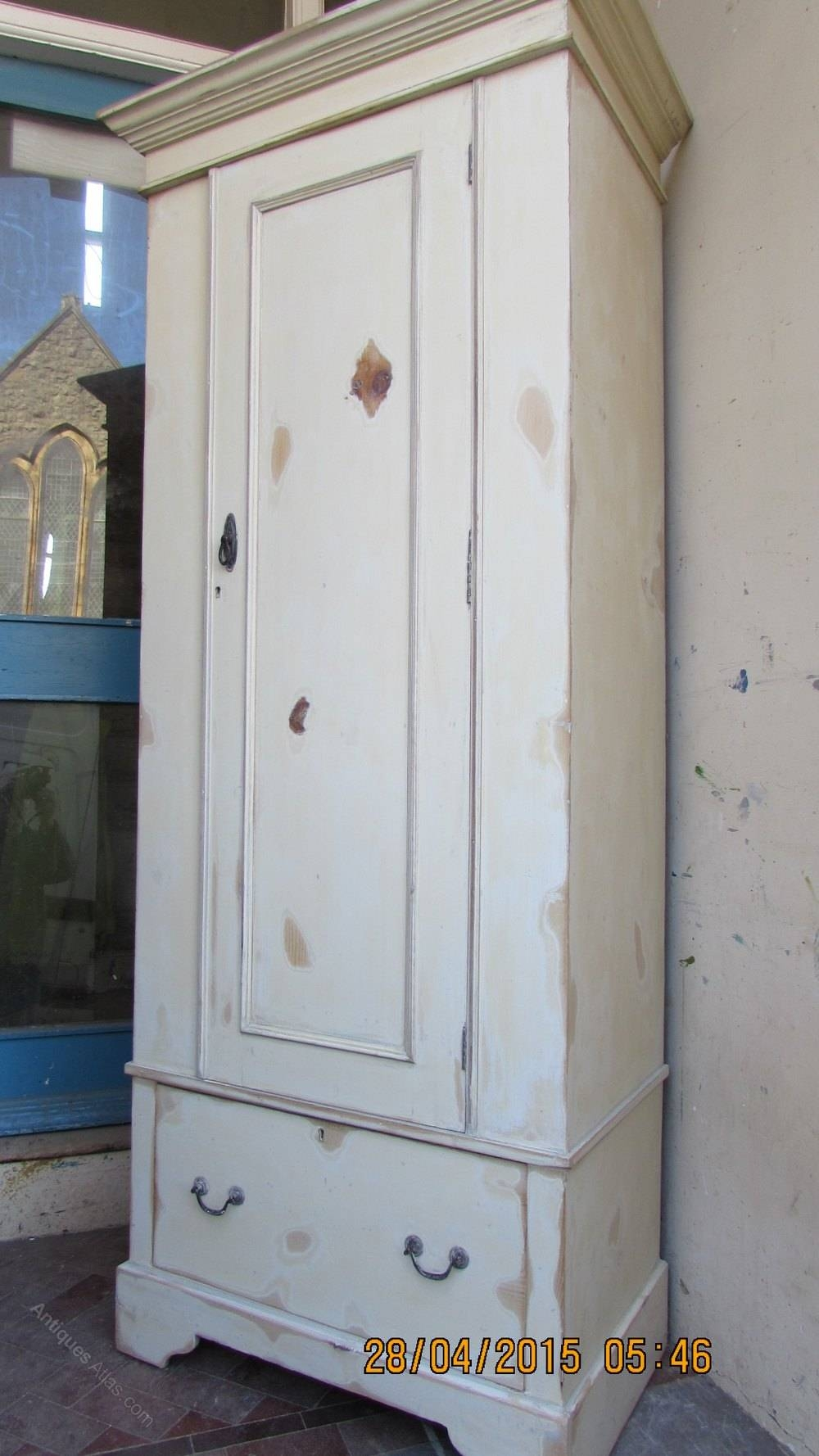 Pair Victorian Pine Shabby Chic Polished Wardrobes - Antiques Atlas for Shabby Chic Pine Wardrobes (Image 6 of 15)