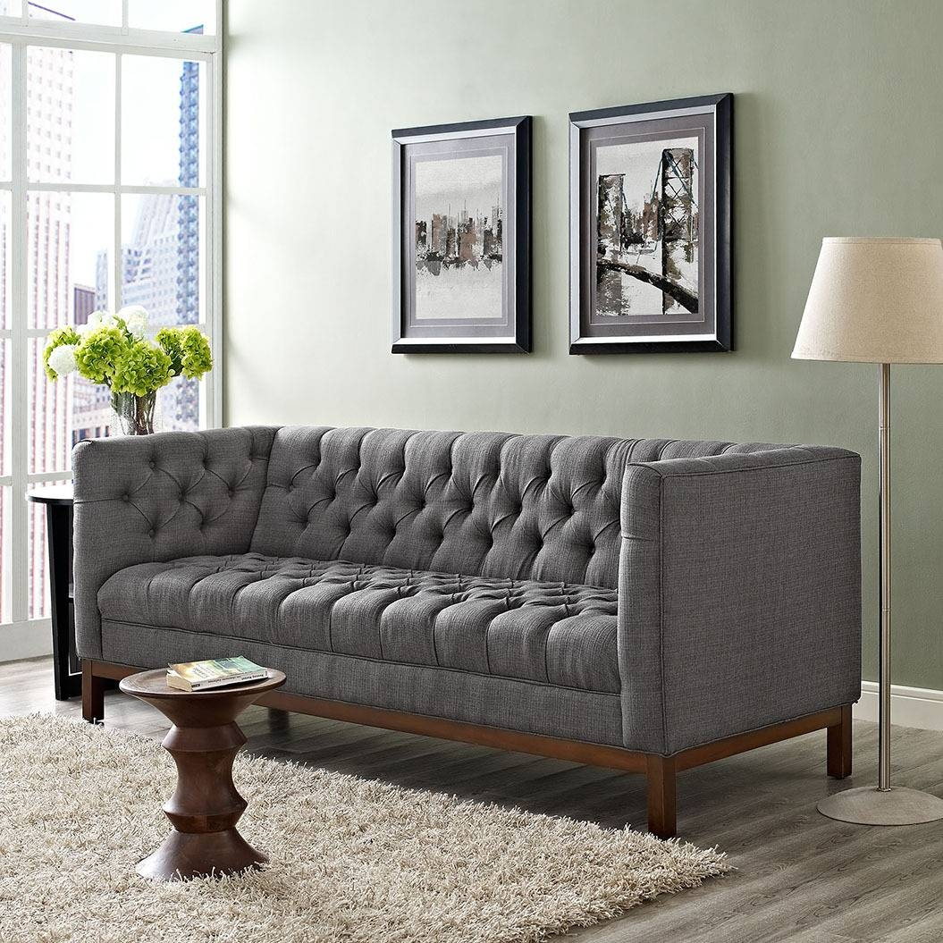 Panache Gray Sofa Eei-1802-Dor Modway Furniture Fabric Sofas At within Fabric Sofas (Image 28 of 30)