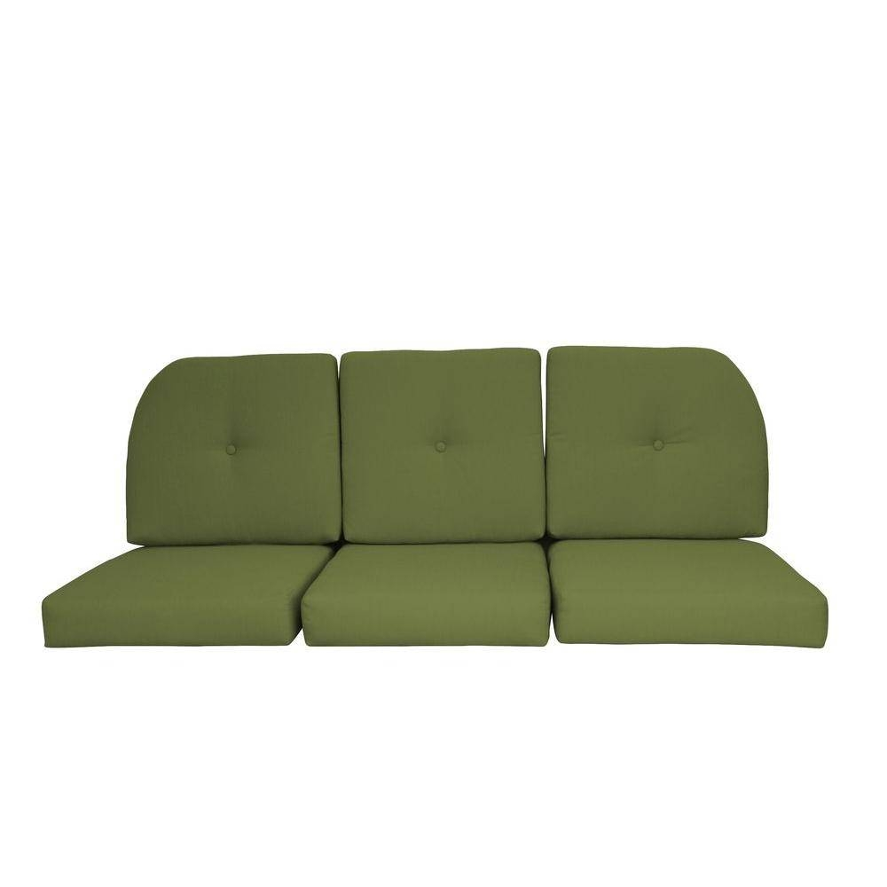 Paradise Cushions Sunbrella Kiwi 6-Piece Wicker Outdoor Sofa pertaining to Sofa Cushions (Image 23 of 30)