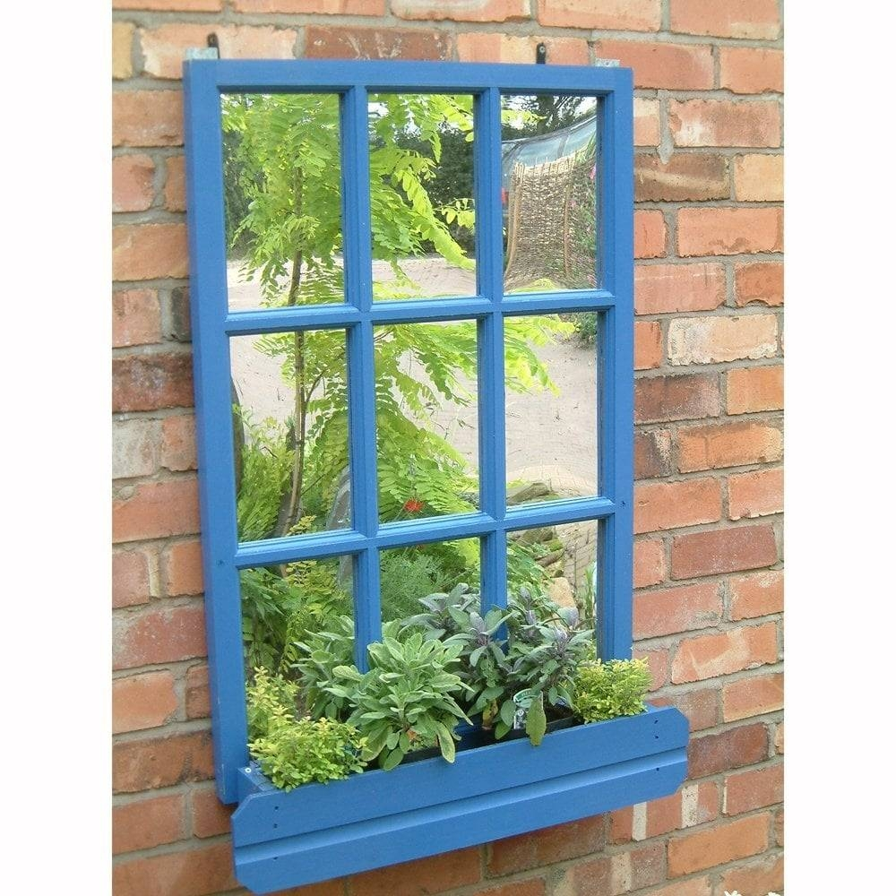 Parallax Georgian Window Garden Mirror | Garden Street inside Garden Wall Mirrors (Image 23 of 25)