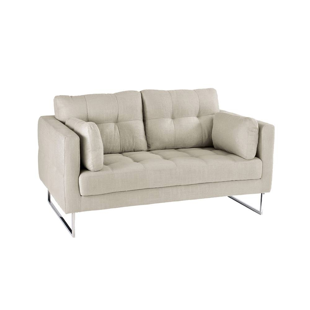 Paris Two Seater Sofa Light Grey - Dwell for Two Seater Sofas (Image 19 of 30)