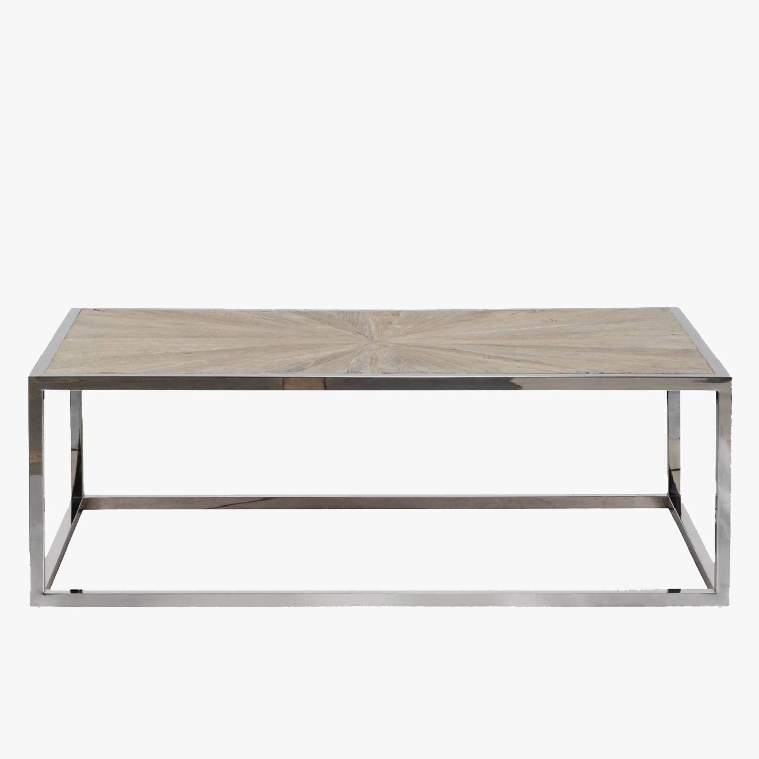 Parquet Top Chrome Coffee Table - Dear Keaton pertaining to Chrome Coffee Tables (Image 22 of 30)