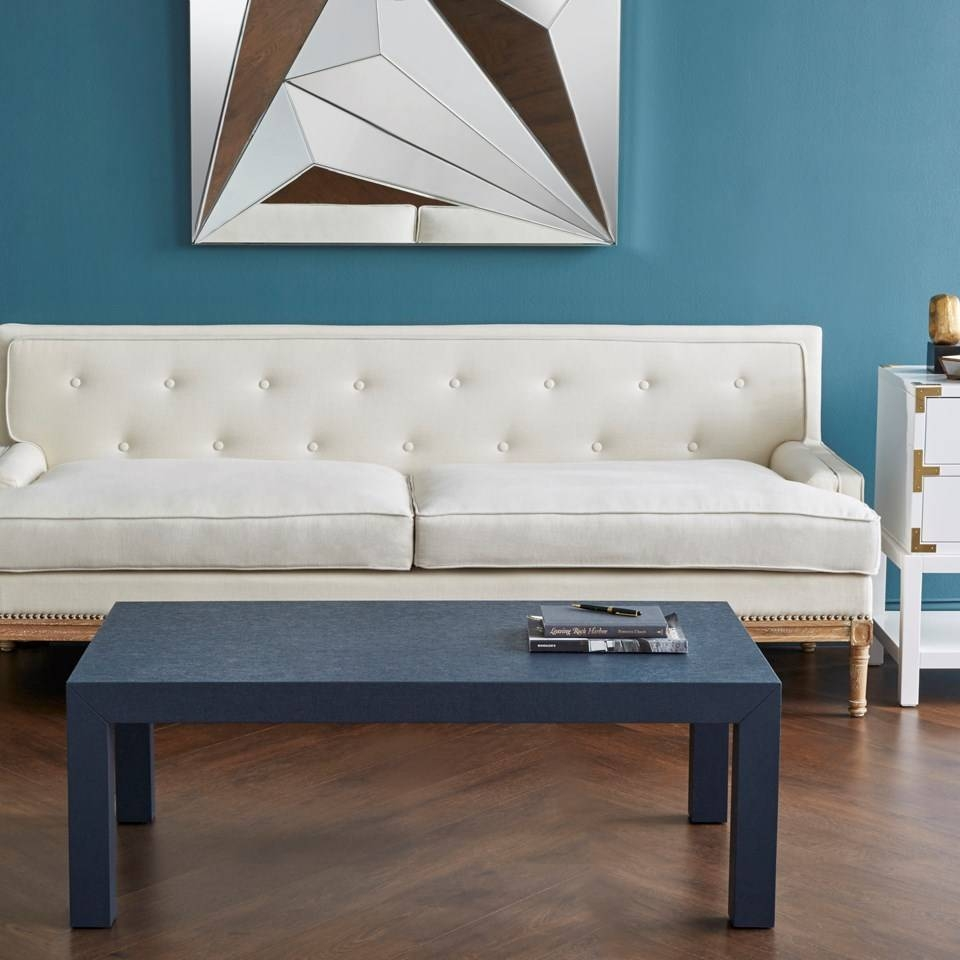 Parsons Coffee Table., Navy Blue - Bungalow 5 intended for Blue Coffee Tables (Image 27 of 30)