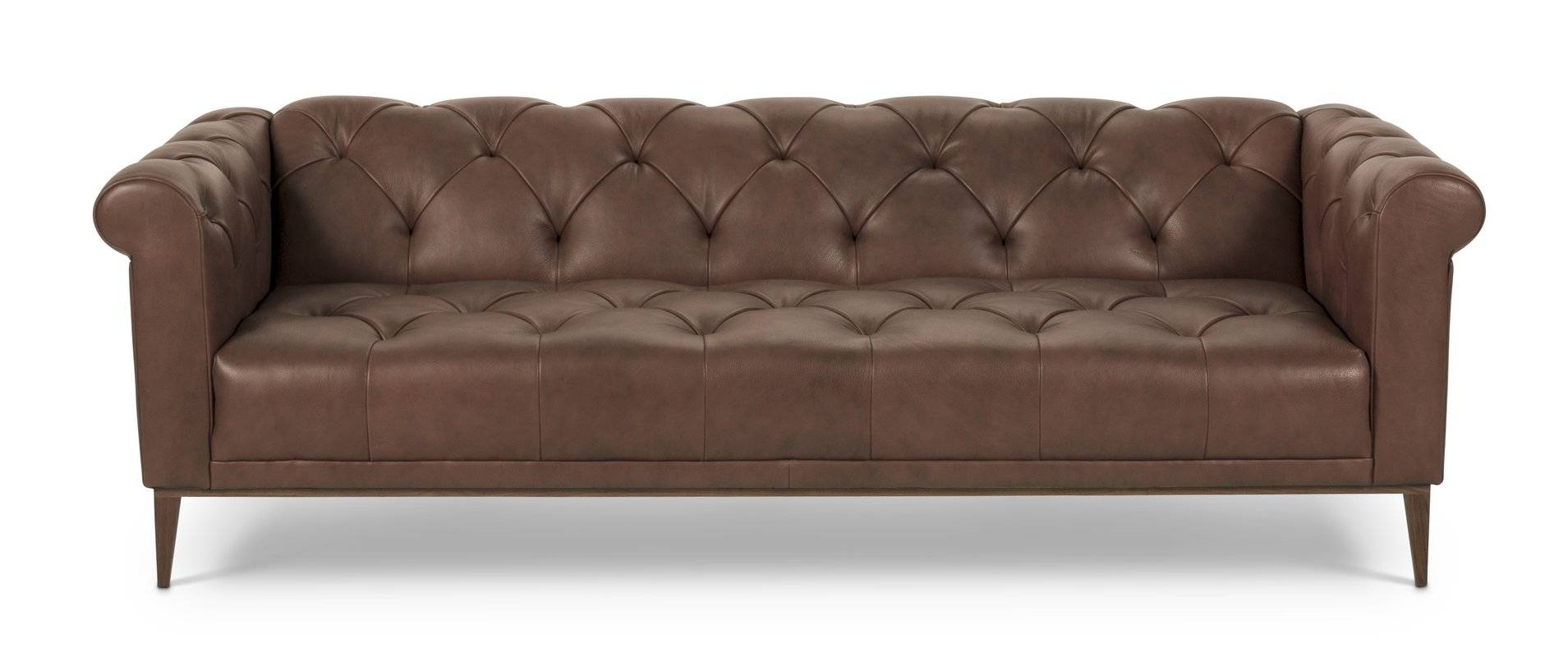 Passport Home Marx Leather Chesterfield Sofa | Wayfair within Leather Chesterfield Sofas (Image 19 of 30)