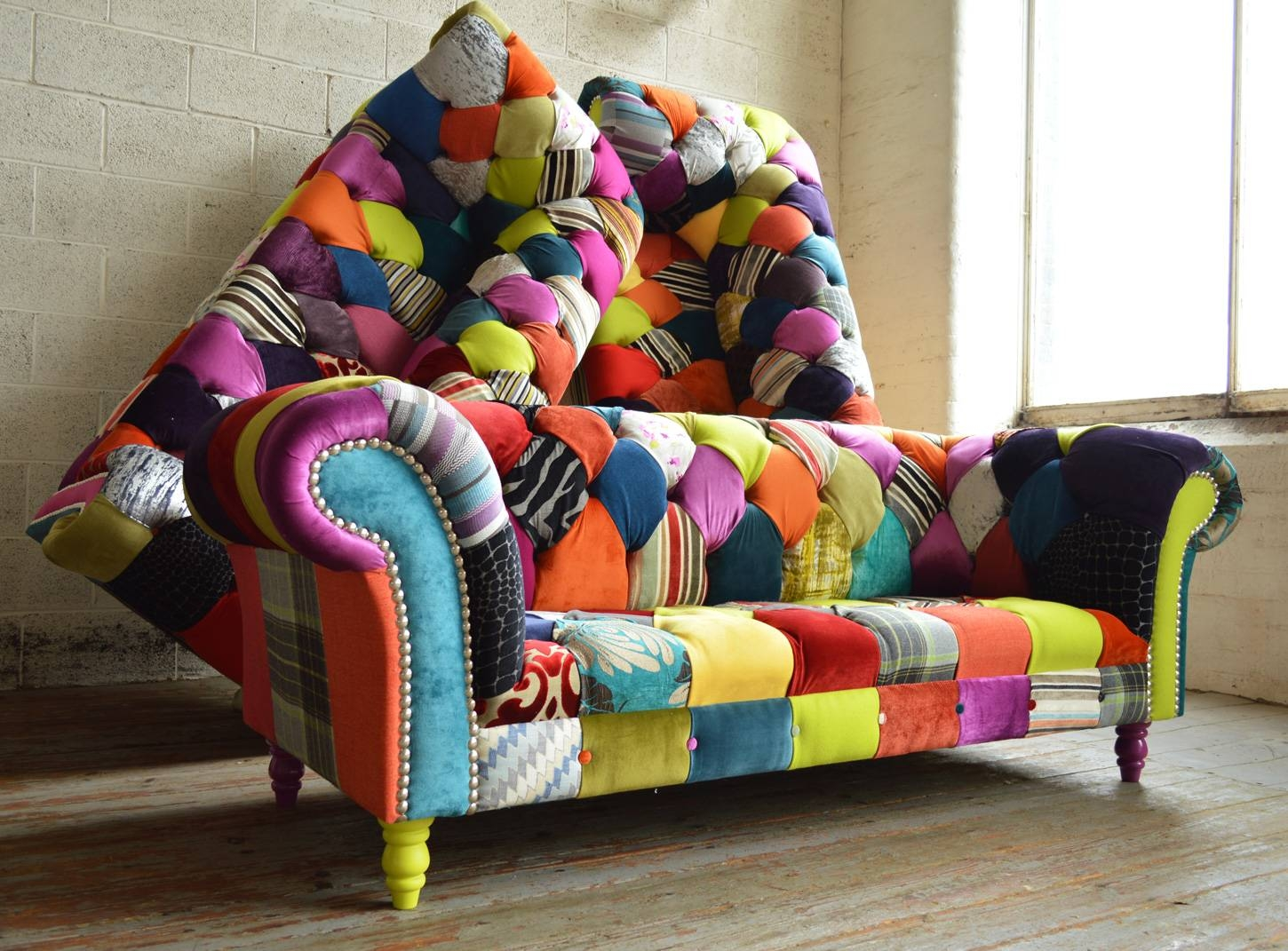 Patchwork Chesterfield Sofas | Abode Sofas intended for Chintz Sofas And Chairs (Image 21 of 25)