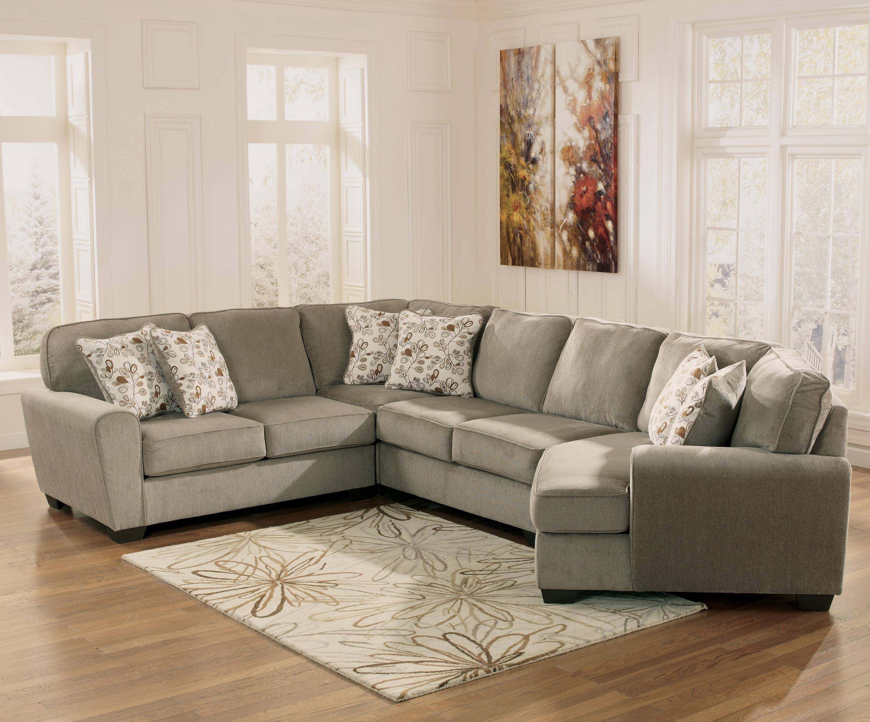Patina 4-Piece Small Sectional With Right Cuddler - Rotmans - Sofa with Cuddler Sectional Sofa (Image 19 of 30)