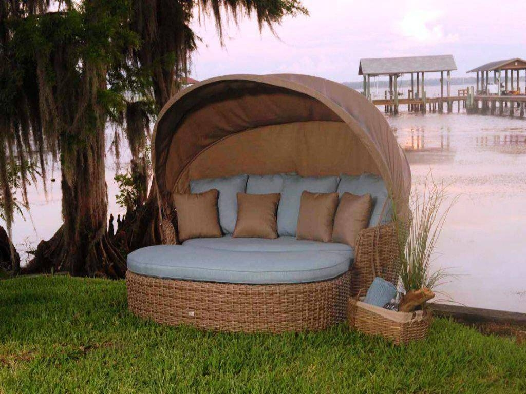 Patio Daybed Cushion | Patio Decoration with Outdoor Sofas With Canopy (Image 24 of 30)