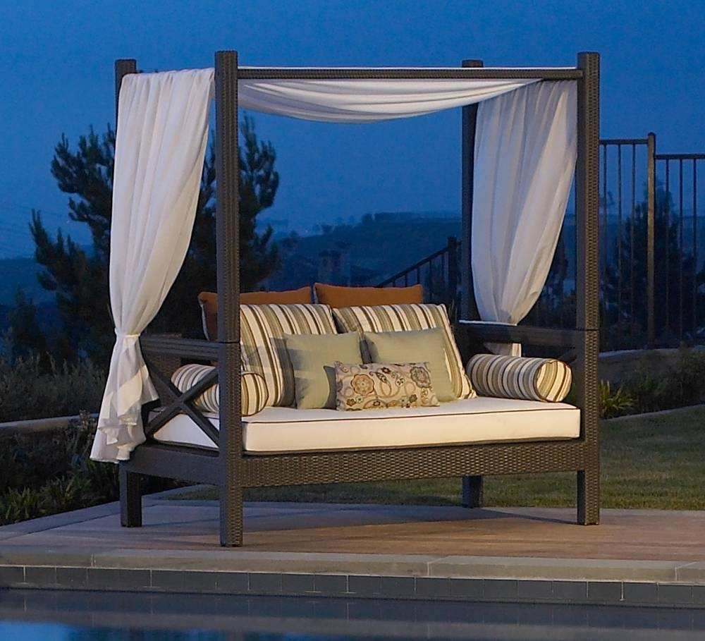 Patio Daybed Ideas | Patio Decoration intended for Outdoor Sofas With Canopy (Image 25 of 30)