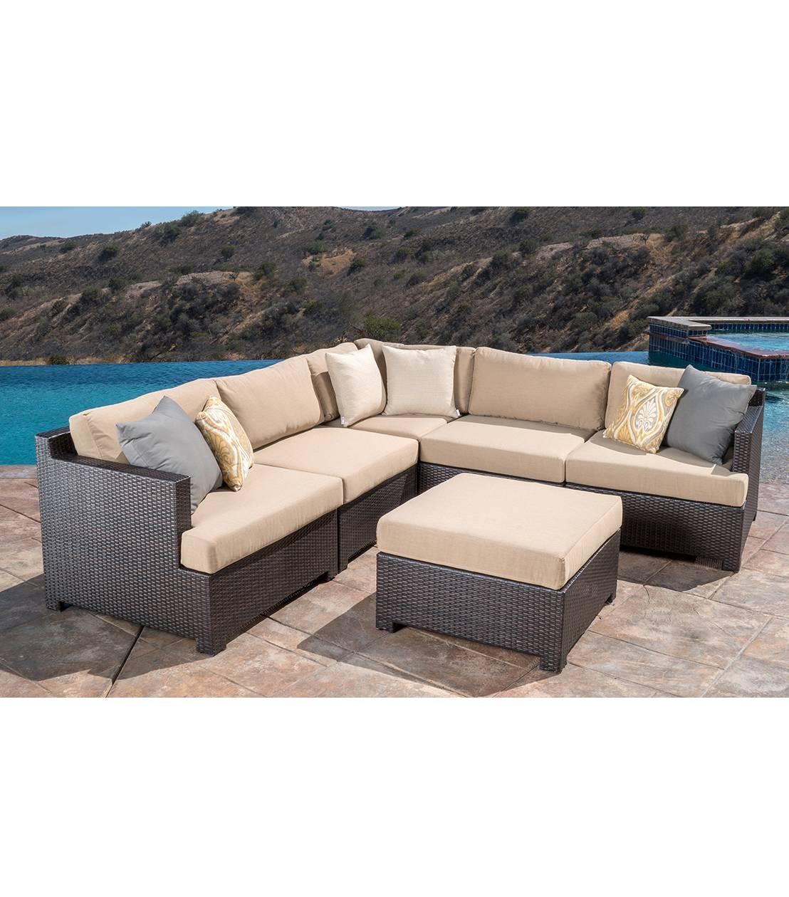 Patio Furniture : Belmont 6-Piece Modular Sectional Set in 6 Piece Modular Sectional Sofa (Image 20 of 30)