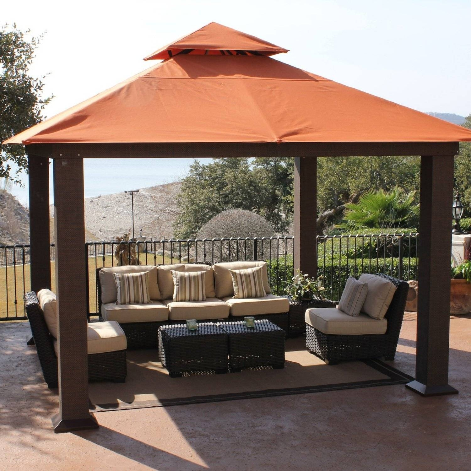 Patio Gazebo Canopy | Patio Decoration inside Outdoor Sofas With Canopy (Image 28 of 30)