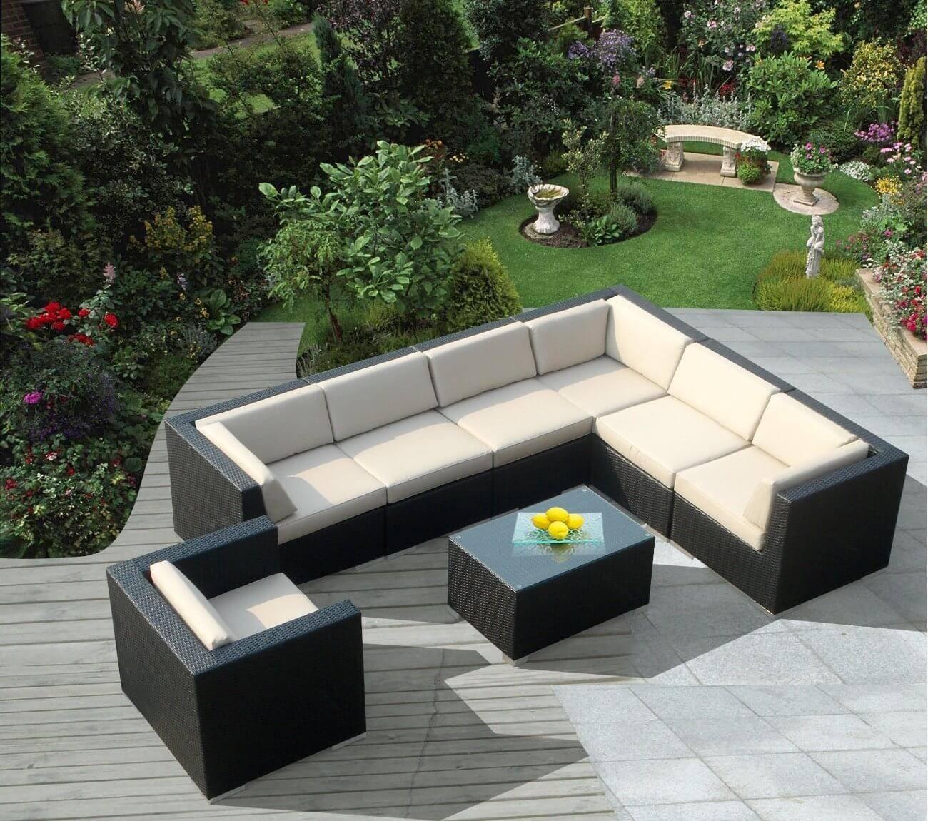 Patio: Outdoor Patio Sectional | Home Interior Design regarding Cheap Patio Sofas (Image 25 of 30)