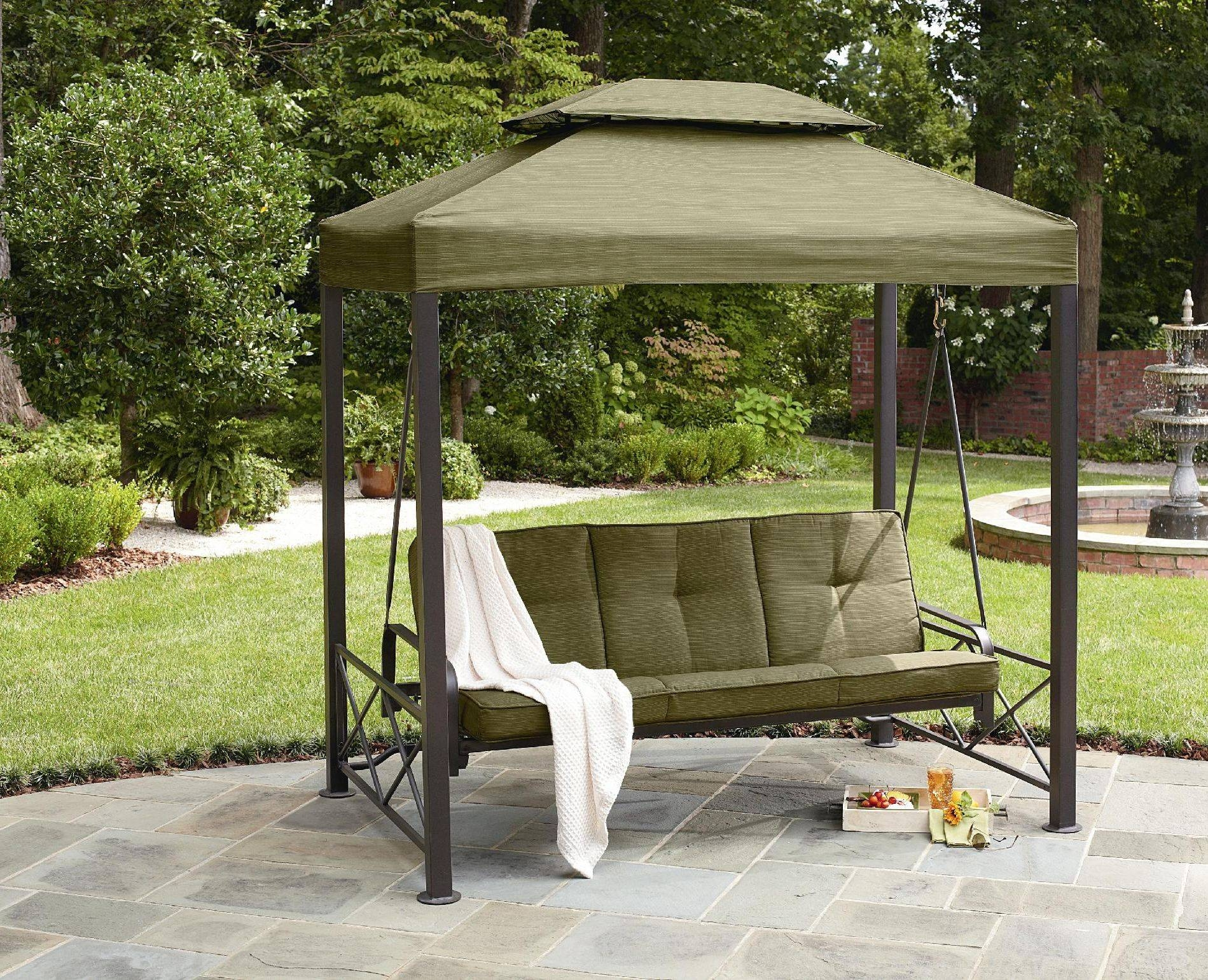 Patio Swing Canopy Cover Backyard And Outdoor Furniture Ideas inside Outdoor Sofas With Canopy (Image 29 of 30)