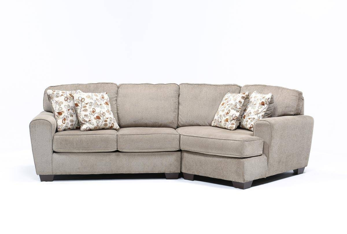 Patola Park 2 Piece Sectional W/raf Cuddler Chaise - Living Spaces throughout Sectional Sofa With Cuddler Chaise (Image 15 of 25)