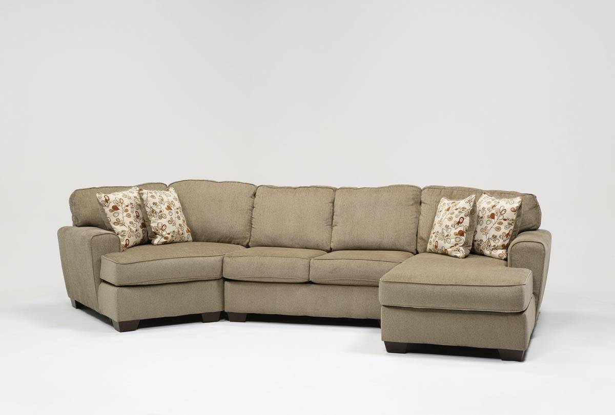 Patola Park 3 Piece Cuddler Sectional W/raf Cornr Chaise - Living with Sectional Sofa With Cuddler Chaise (Image 16 of 25)