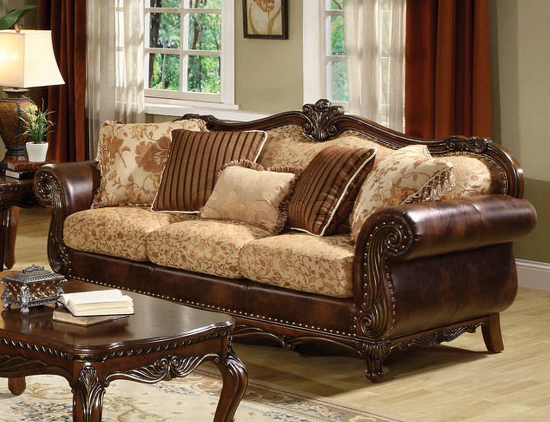 Patterned Fabric Sofas - Leather Sectional Sofa throughout Elegant Fabric Sofas (Image 23 of 30)