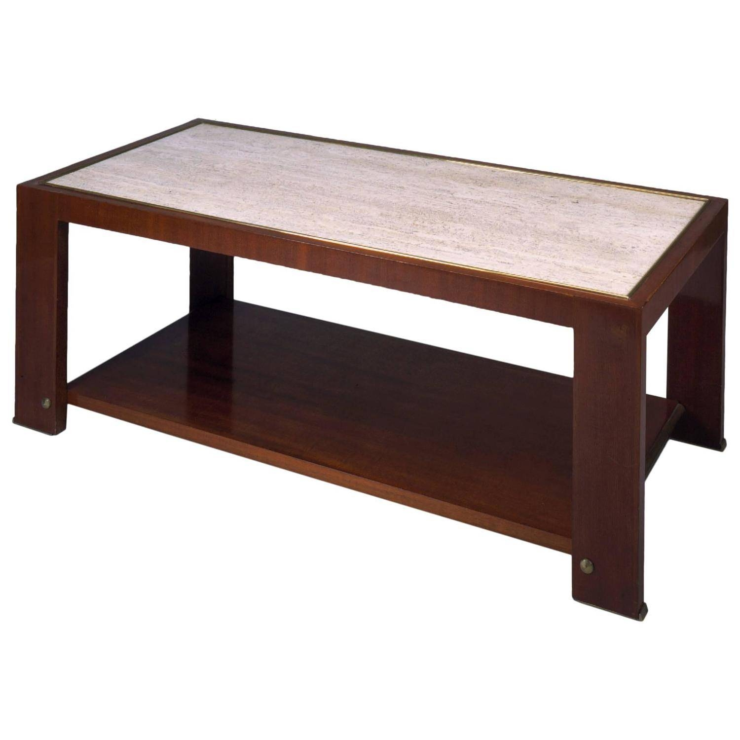 Paul Dupré-Lafon, Mahogany And Travertin Coffee Table, Circa 1935 with regard to Mahogany Coffee Tables (Image 28 of 30)