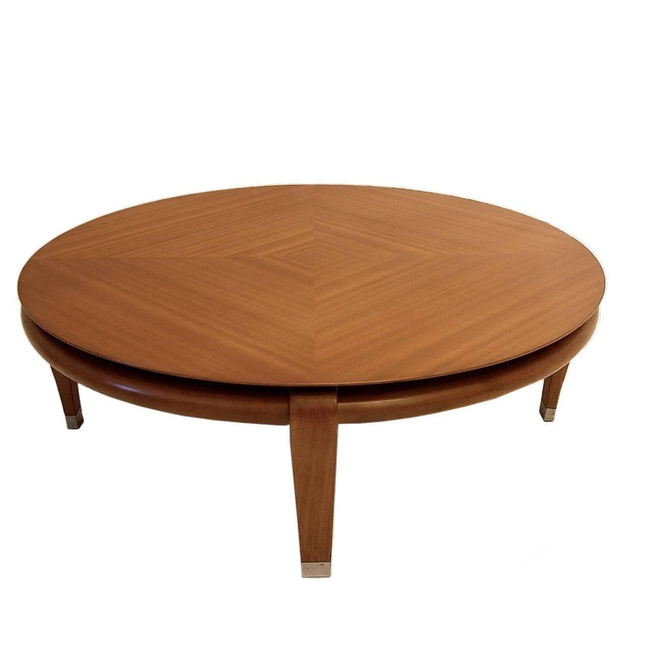 Paul Laszlo For Brown Saltman Round Coffee Table In Mahogany for Mahogany Coffee Tables (Image 29 of 30)
