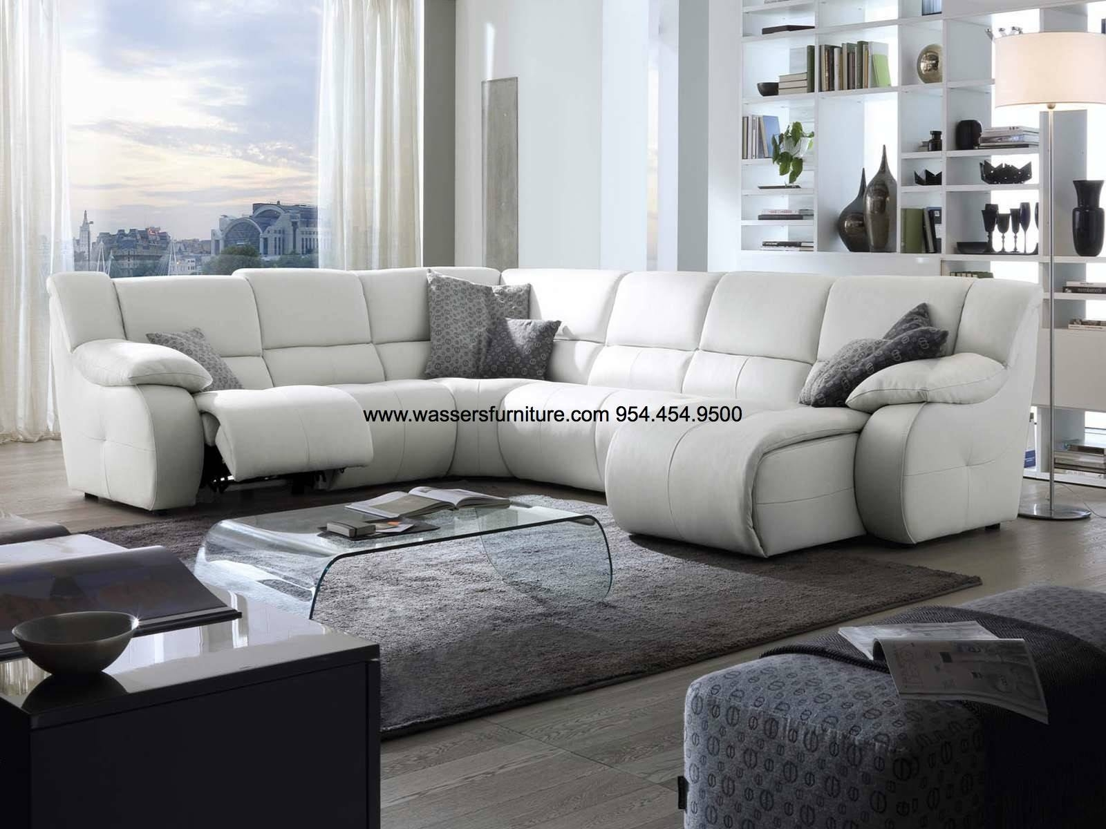Pavoncello - Di Lusso - 6 Seat - Genuine Leather All Over - Motion for Motion Sectional Sofas (Image 17 of 30)