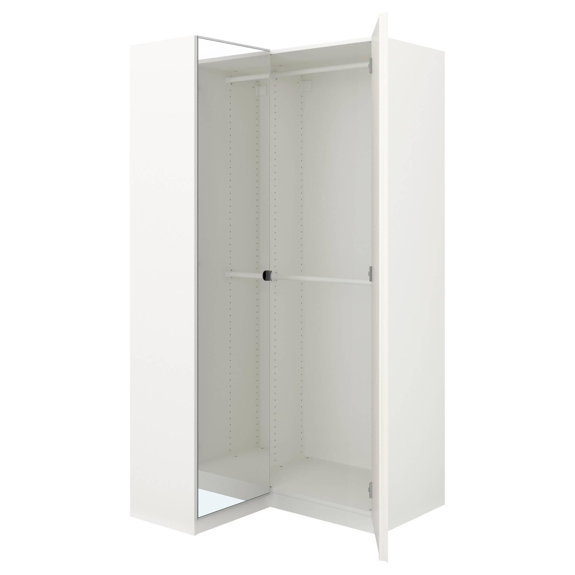 Pax Corner Wardrobe White/fardal Vikedal 111/88X201 Cm - Ikea pertaining to Corner Wardrobes (Image 13 of 15)