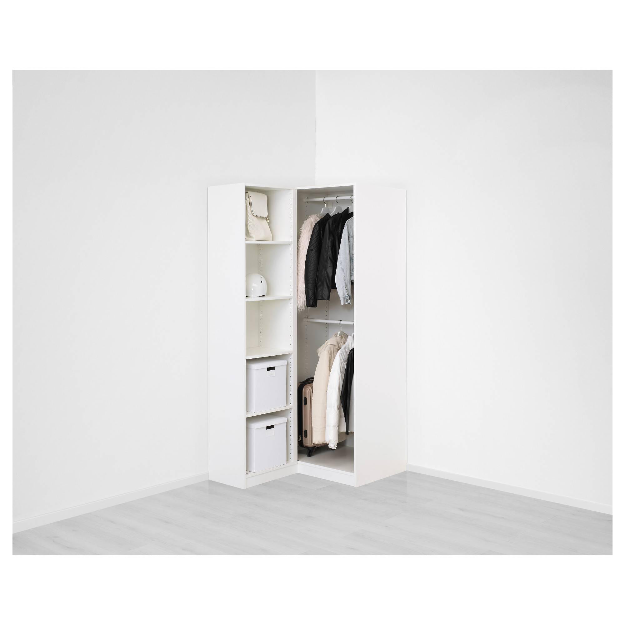 Pax Corner Wardrobe White/fardal Vikedal 111/88X201 Cm - Ikea throughout White Corner Wardrobes (Image 8 of 15)