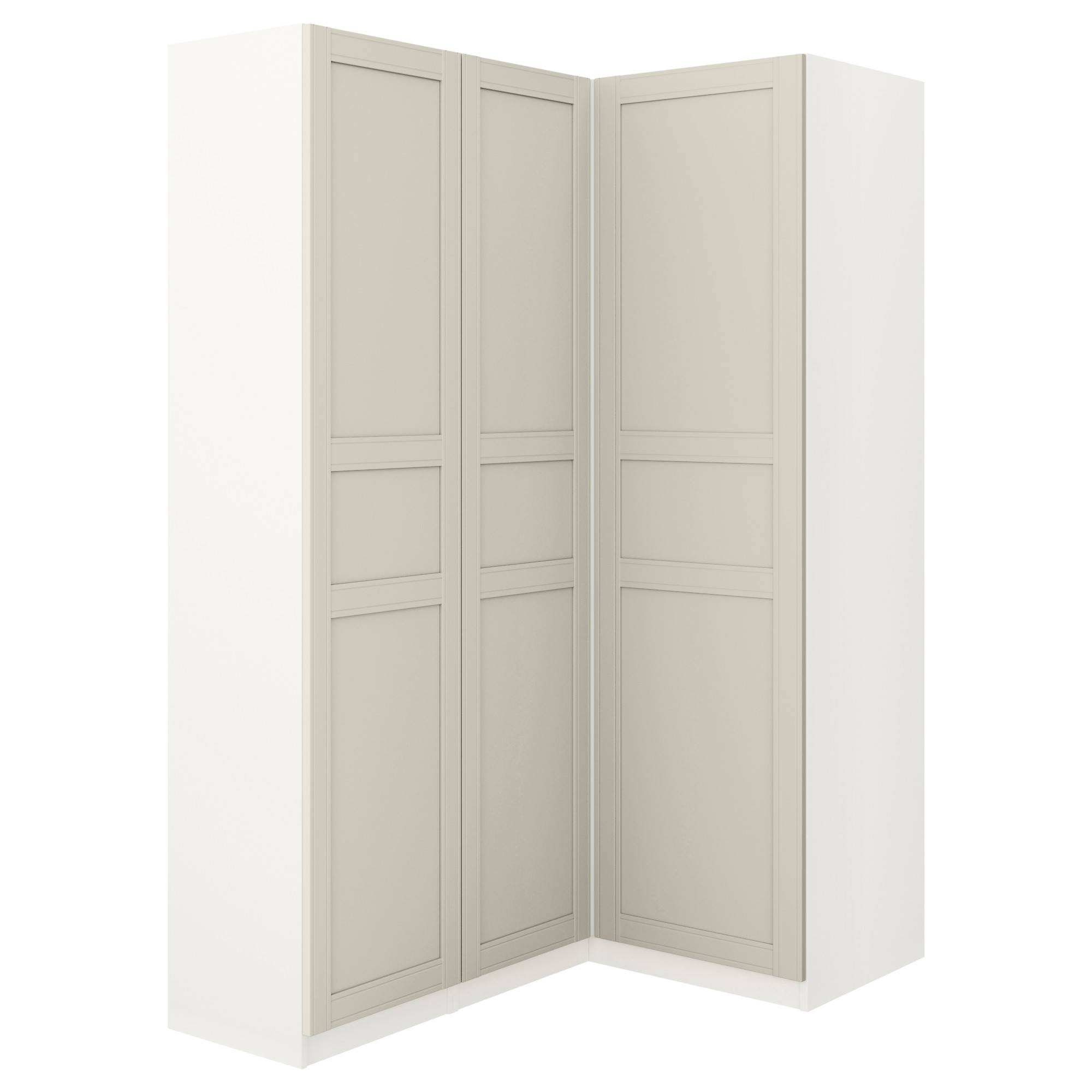 Pax Corner Wardrobe White/flisberget Light Beige 160/88X201 Cm - Ikea regarding White Corner Wardrobes (Image 11 of 15)