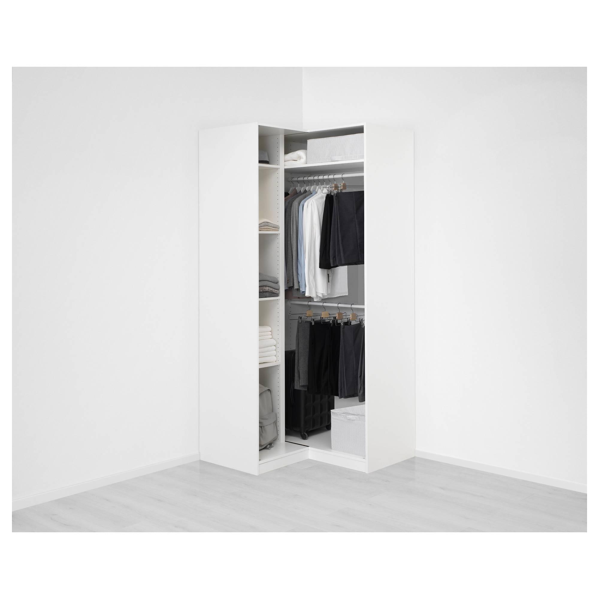Pax Corner Wardrobe White/grimo White 111/111X236 Cm - Ikea regarding Corner Wardrobes (Image 14 of 15)