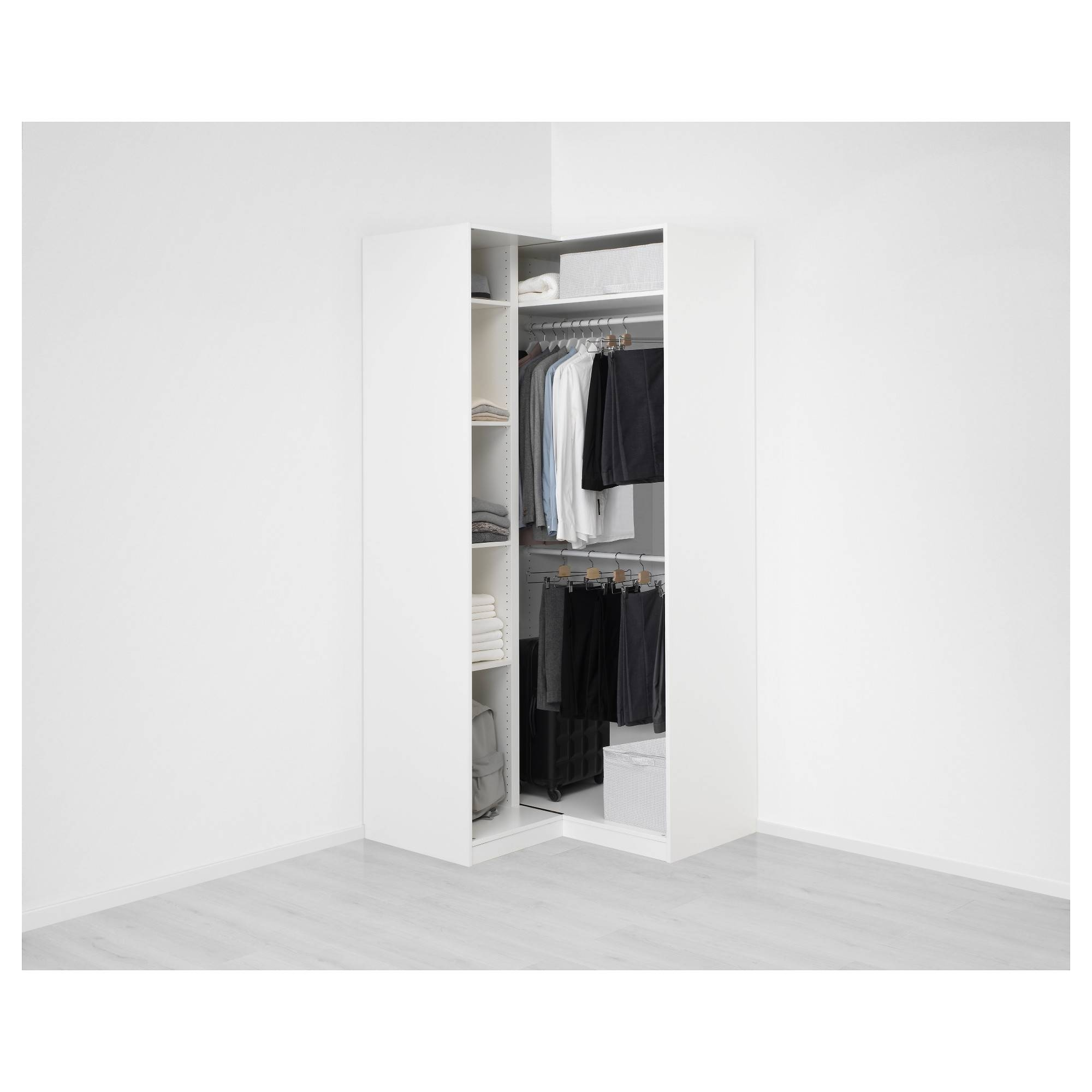 Pax Corner Wardrobe White/grimo White 111/111X236 Cm - Ikea within White Corner Wardrobes Units (Image 14 of 15)