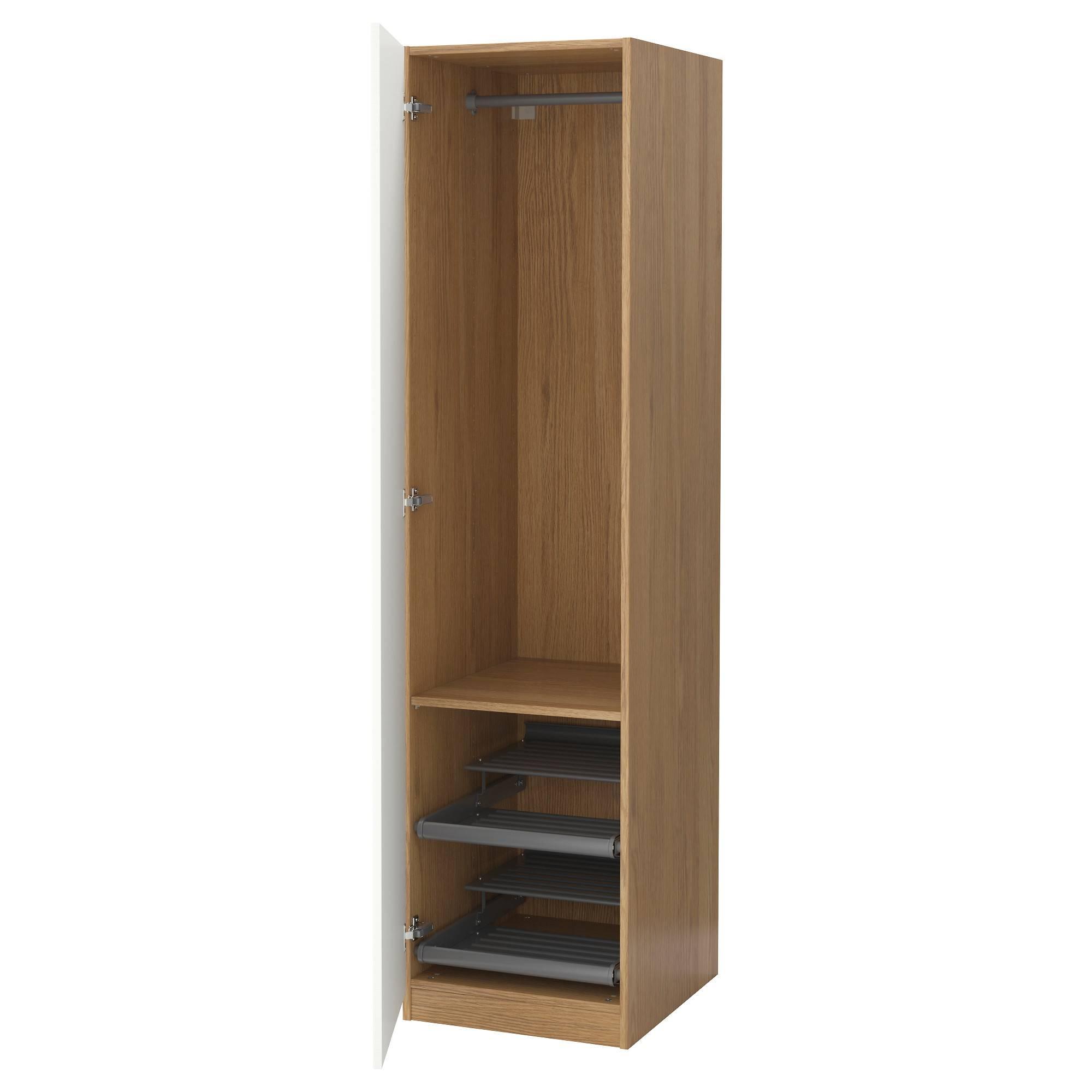Pax Wardrobe Oak Effect/vinterbro White 50X60X201 Cm - Ikea regarding Single Wardrobes (Image 4 of 15)