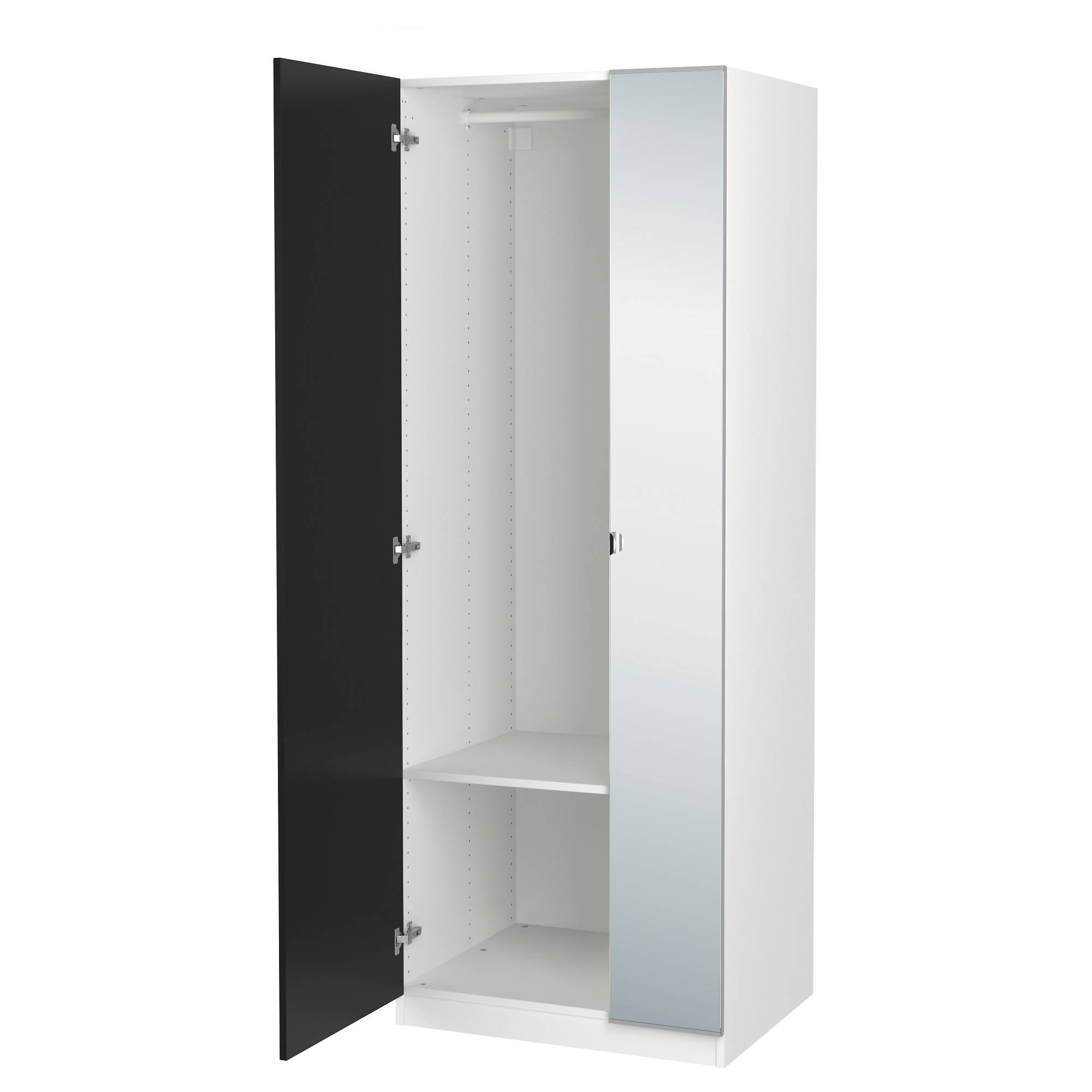 Pax Wardrobe White/tanem Vikedal 75X60X201 Cm – Ikea Pertaining To 2 Door Corner Wardrobes (View 6 of 15)