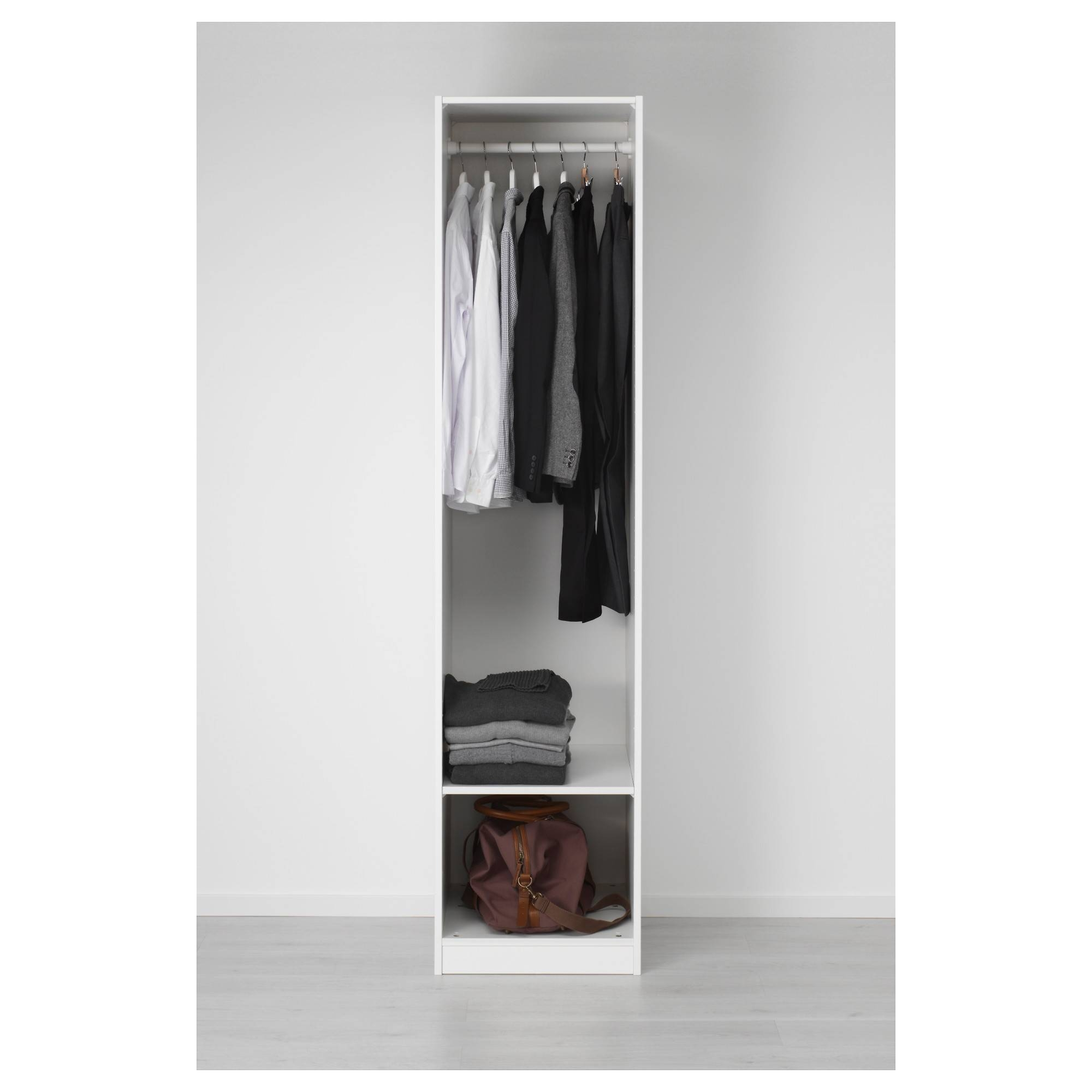 Pax Wardrobe White/vikedal Mirror Glass 50X60X201 Cm - Ikea within Single Black Wardrobes (Image 7 of 15)