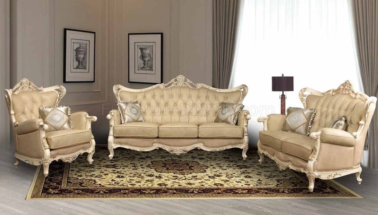 Pearl Traditional Leather Sofa W/optional Loveseat & Chair with Traditional Leather Couch (Image 16 of 30)