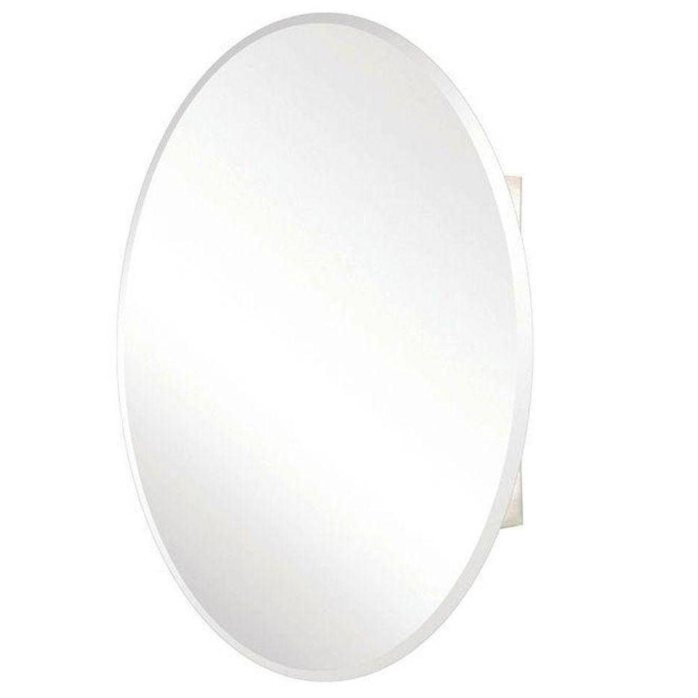 Pegasus 24 In. X 36 In. Recessed Or Surface-Mount Oval Bathroom intended for White Oval Mirrors (Image 15 of 25)