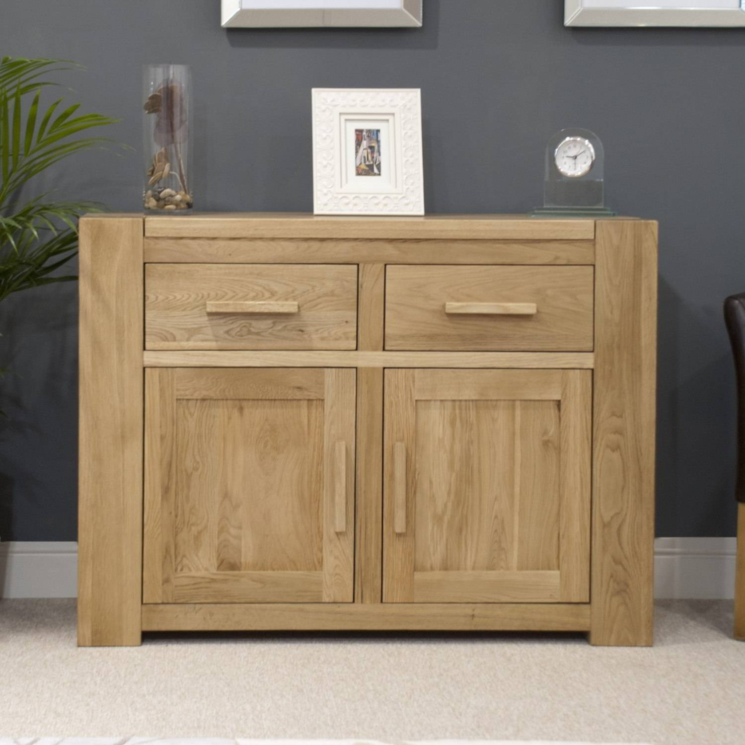 Pemberton Solid Oak Living Room Furniture Medium Storage Sideboard With Regard To Oak Sideboards For Sale (View 13 of 30)