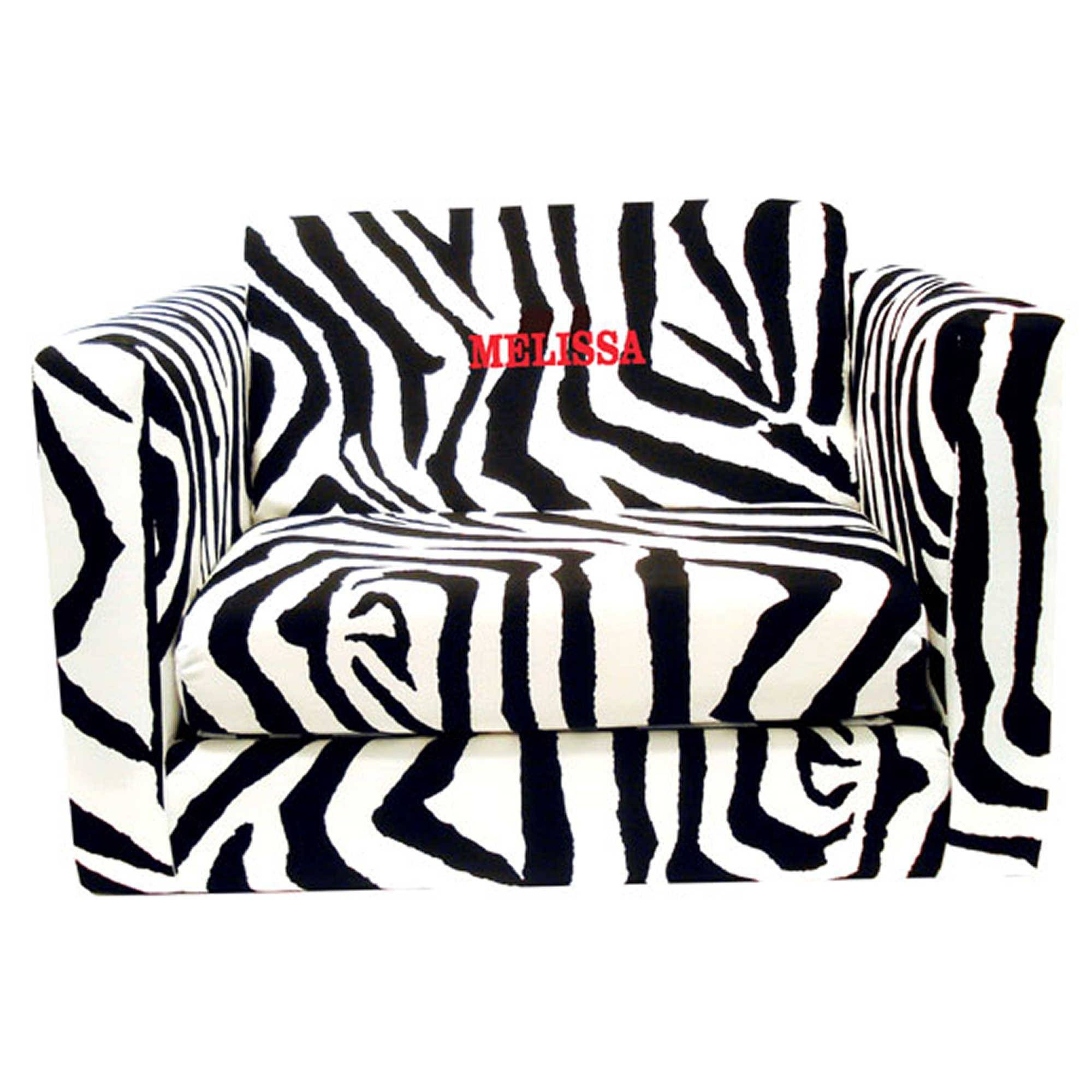 30 Collection of Kids Sofa Chair and Ottoman Set Zebra
