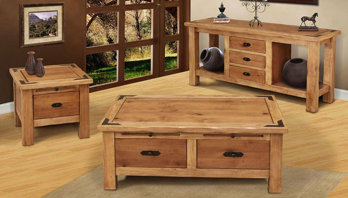 Perfect Furniture Rustic Coffee Table Sets Exterior Red Oak For Oak Coffee Table Sets (View 16 of 30)
