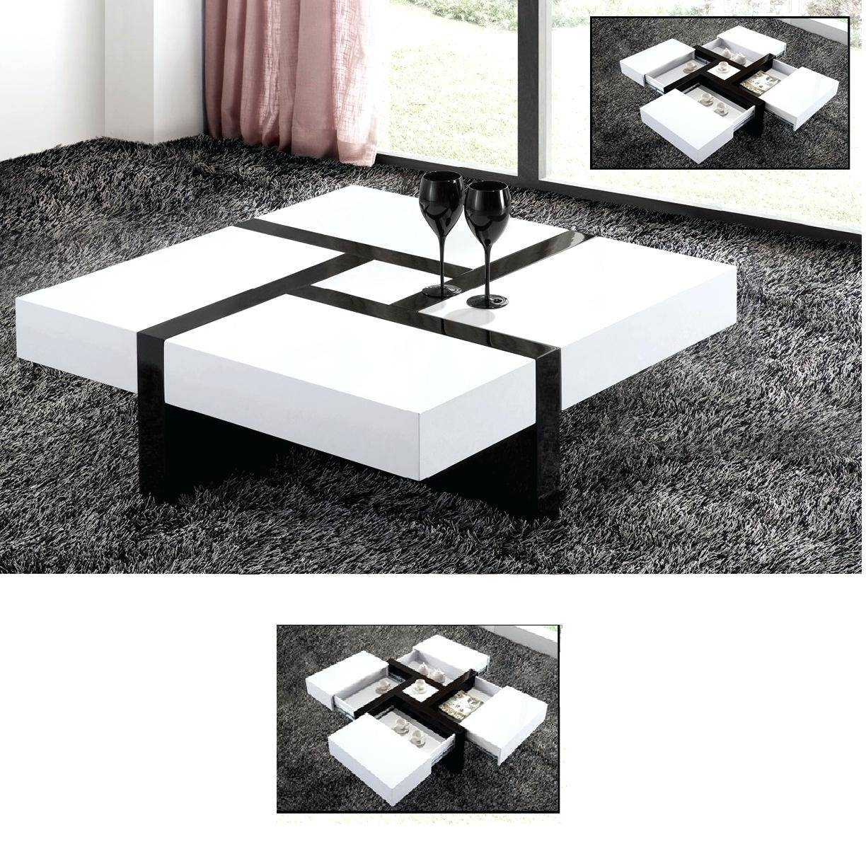Perfect Leather Coffee Table Ottoman Ideas | Coffee Tables Decoration regarding White High Gloss Coffee Tables (Image 25 of 30)