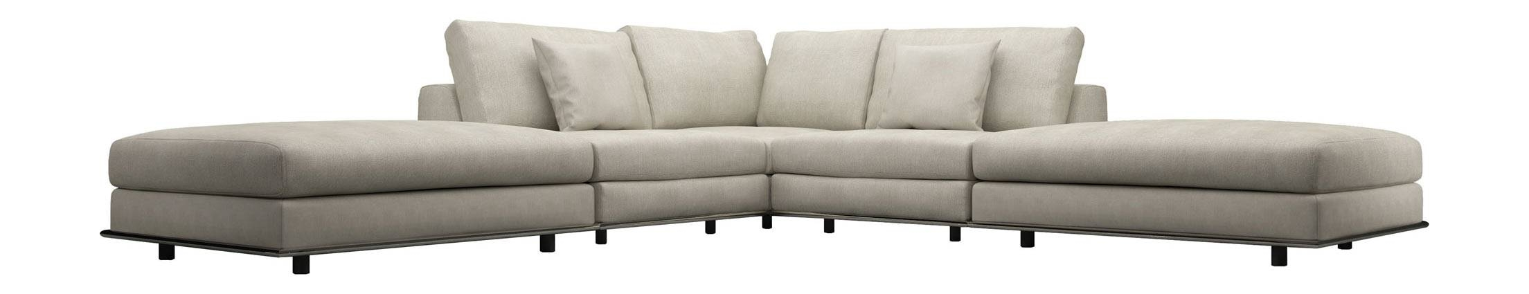 Perry Armless Corner Sectional Sofa Moonbeammodloft with Armless Sectional Sofas (Image 20 of 30)