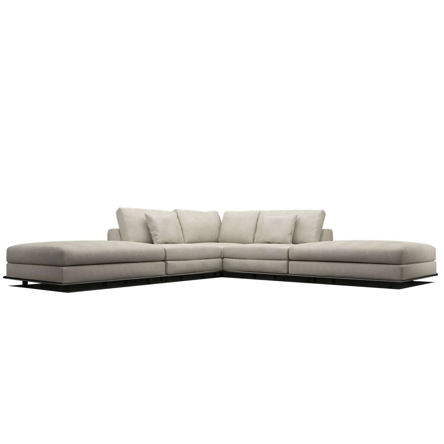 Perry Armless Corner Sofamodloft | Yliving in Armless Sectional Sofa (Image 21 of 30)